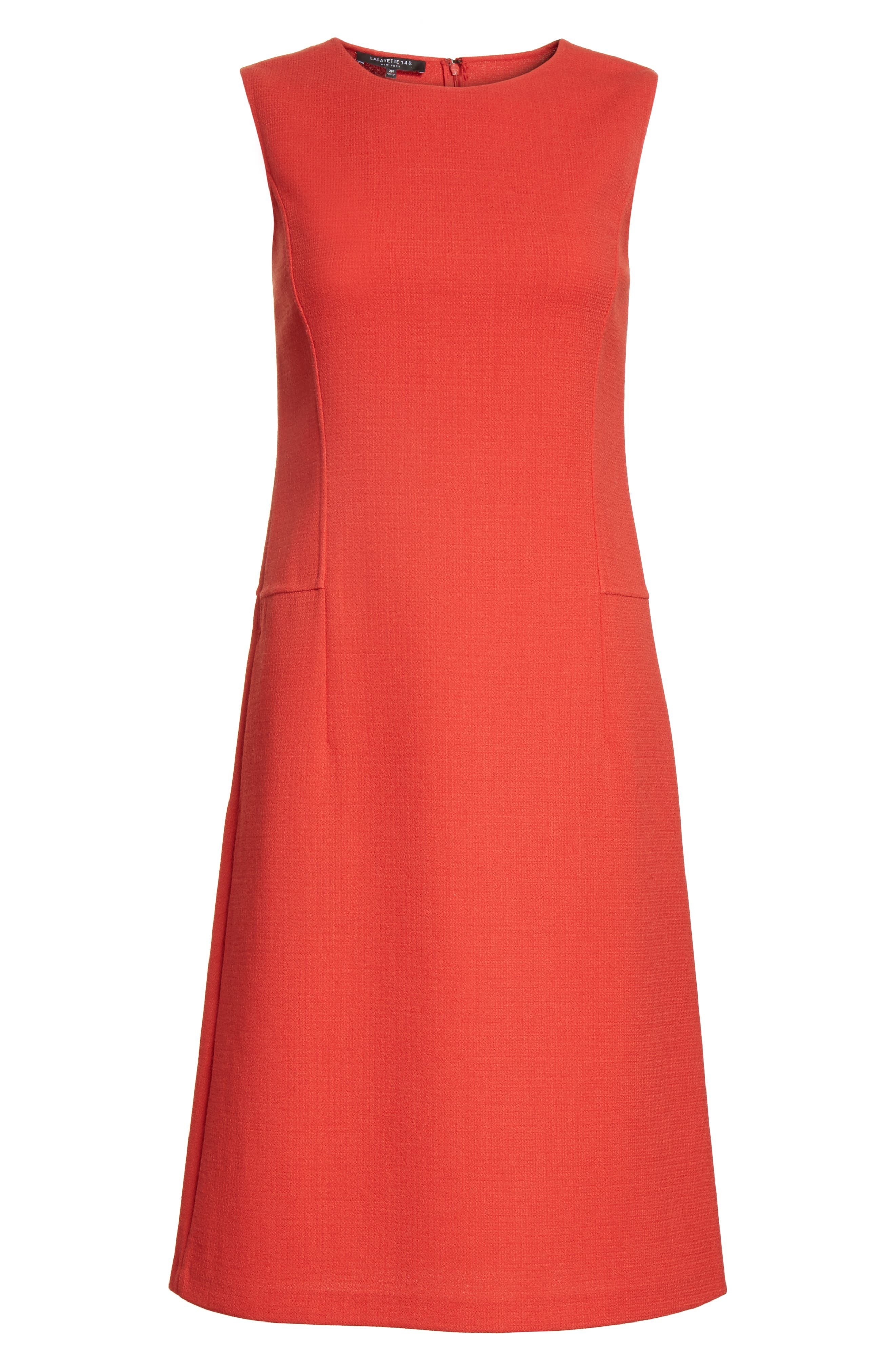 Selita Nouveau Crepe Dress,                             Alternate thumbnail 7, color,                             Persimmon