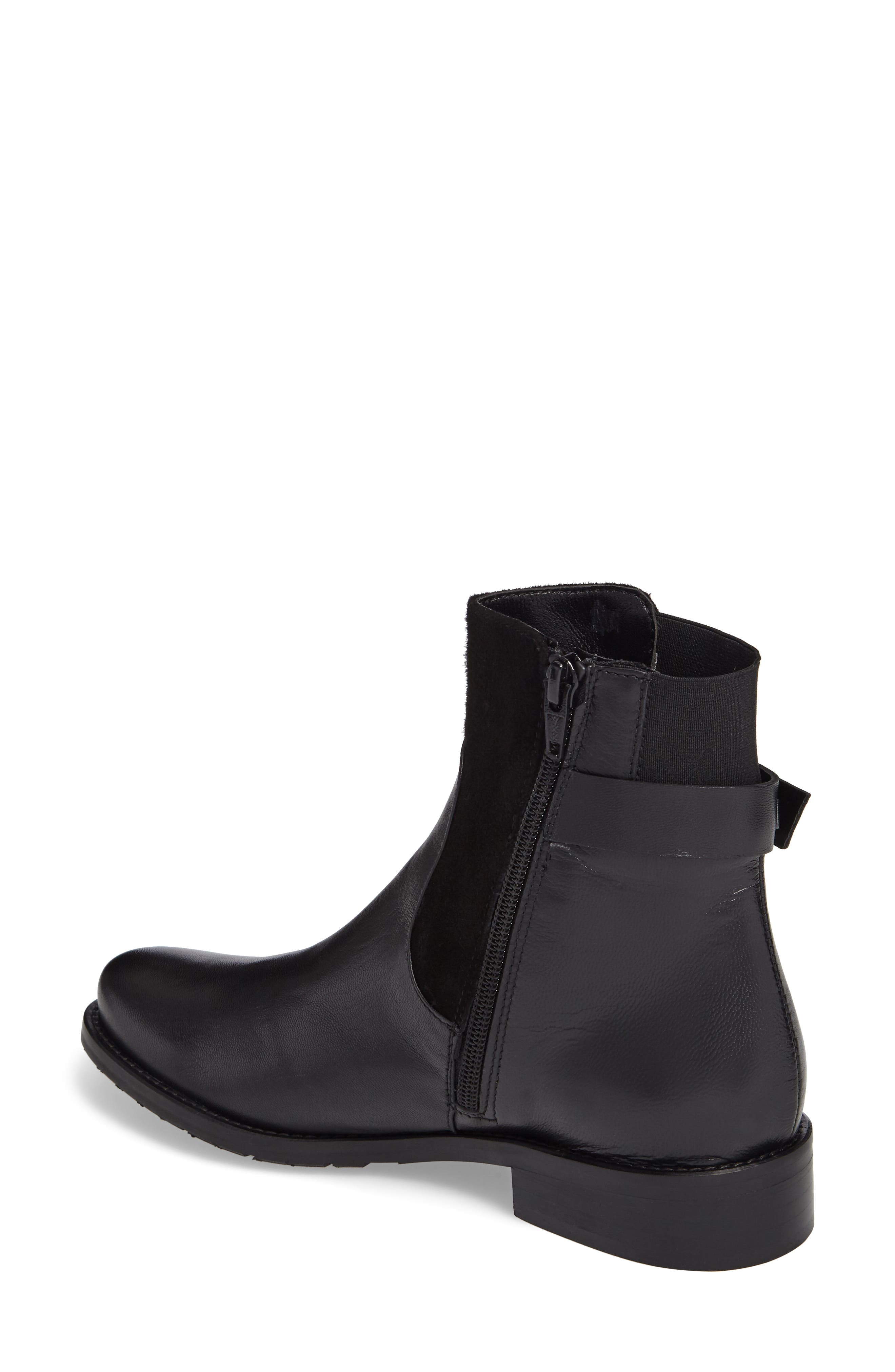 Samira Bootie,                             Alternate thumbnail 2, color,                             Black Leather
