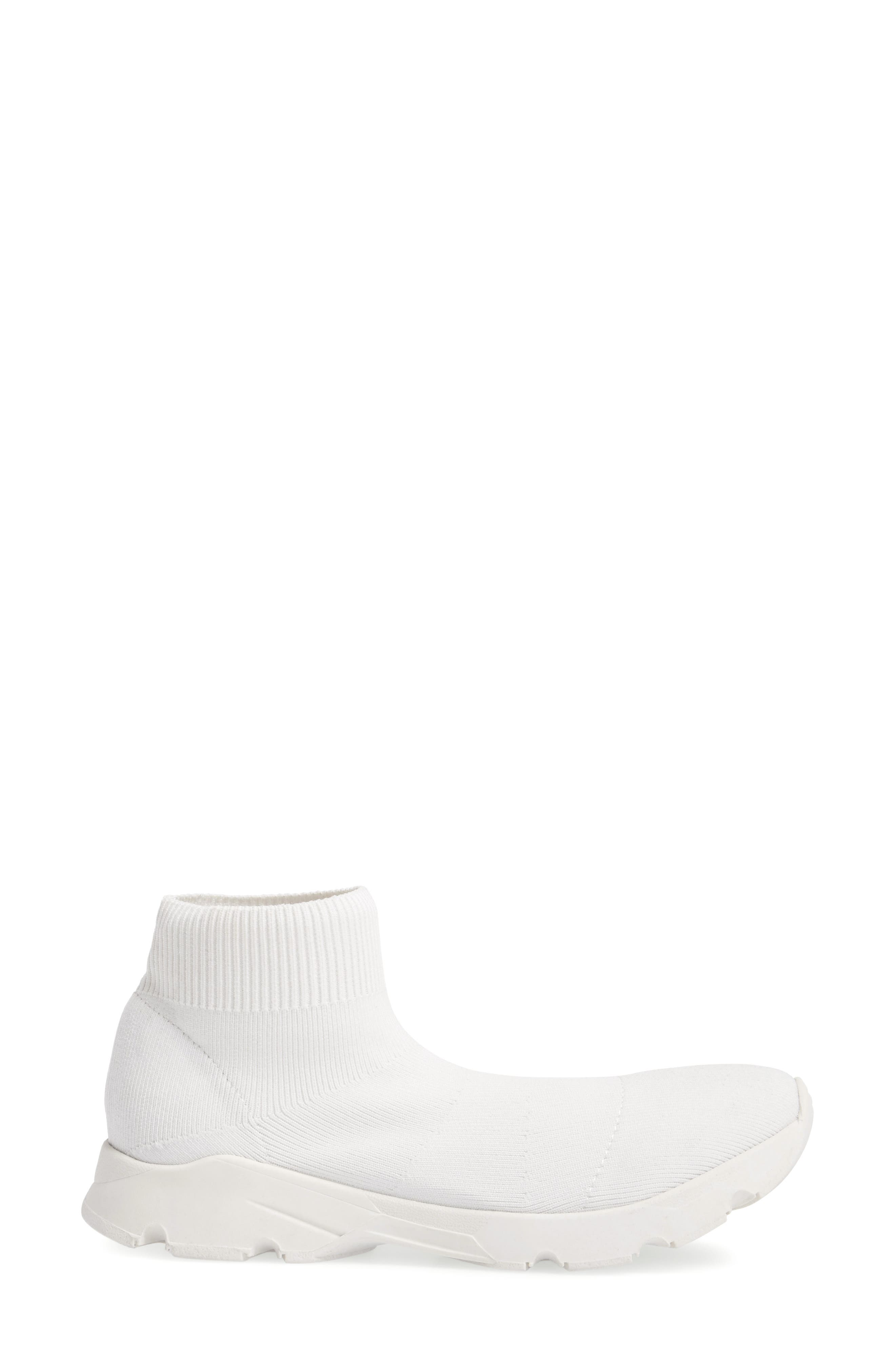 Winston Knit High Top Sneaker,                             Alternate thumbnail 3, color,                             White Vortex