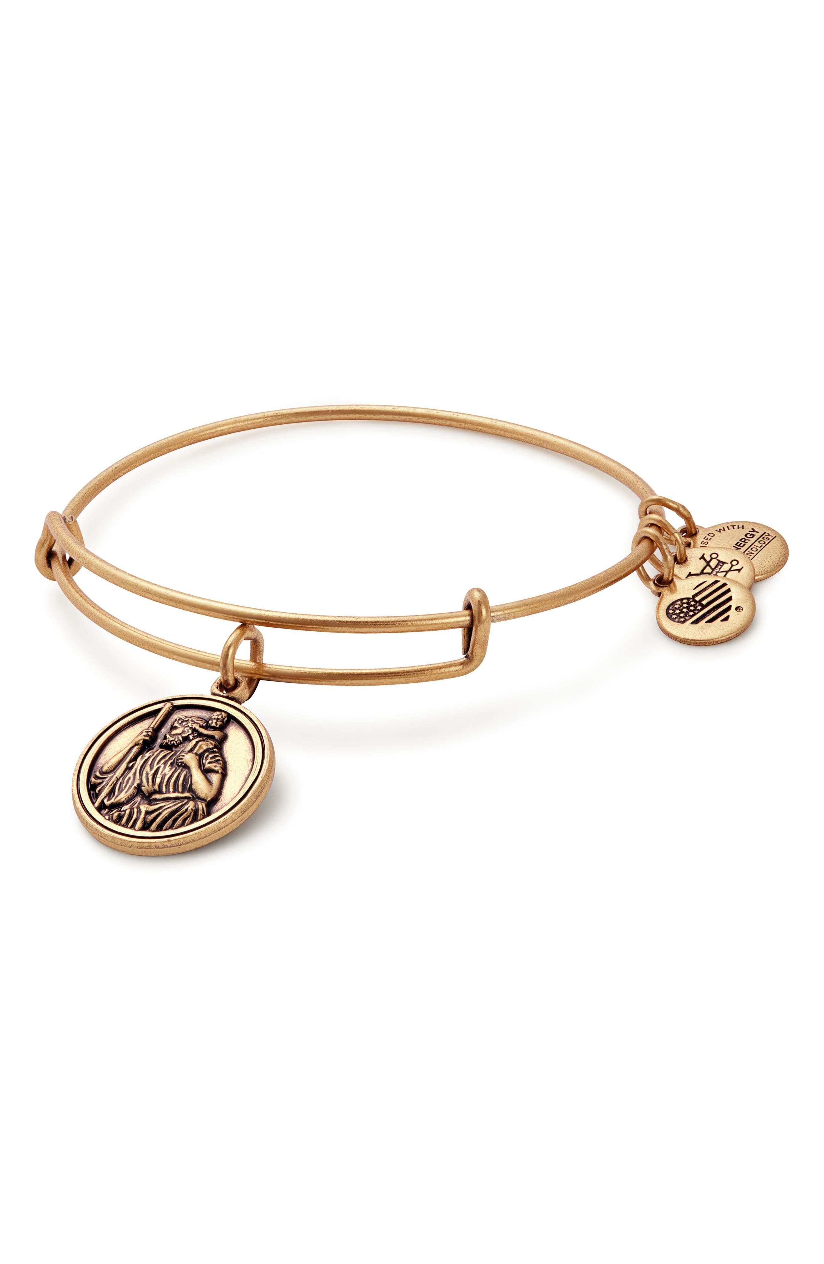 Main Image - Alex and Ani St. Christopher Adjustable Wire Bangle