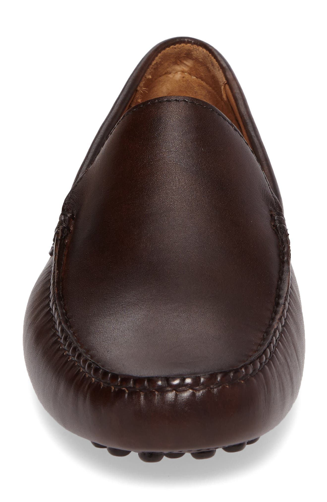 Cane Driving Shoe,                             Alternate thumbnail 4, color,                             Brown Leather