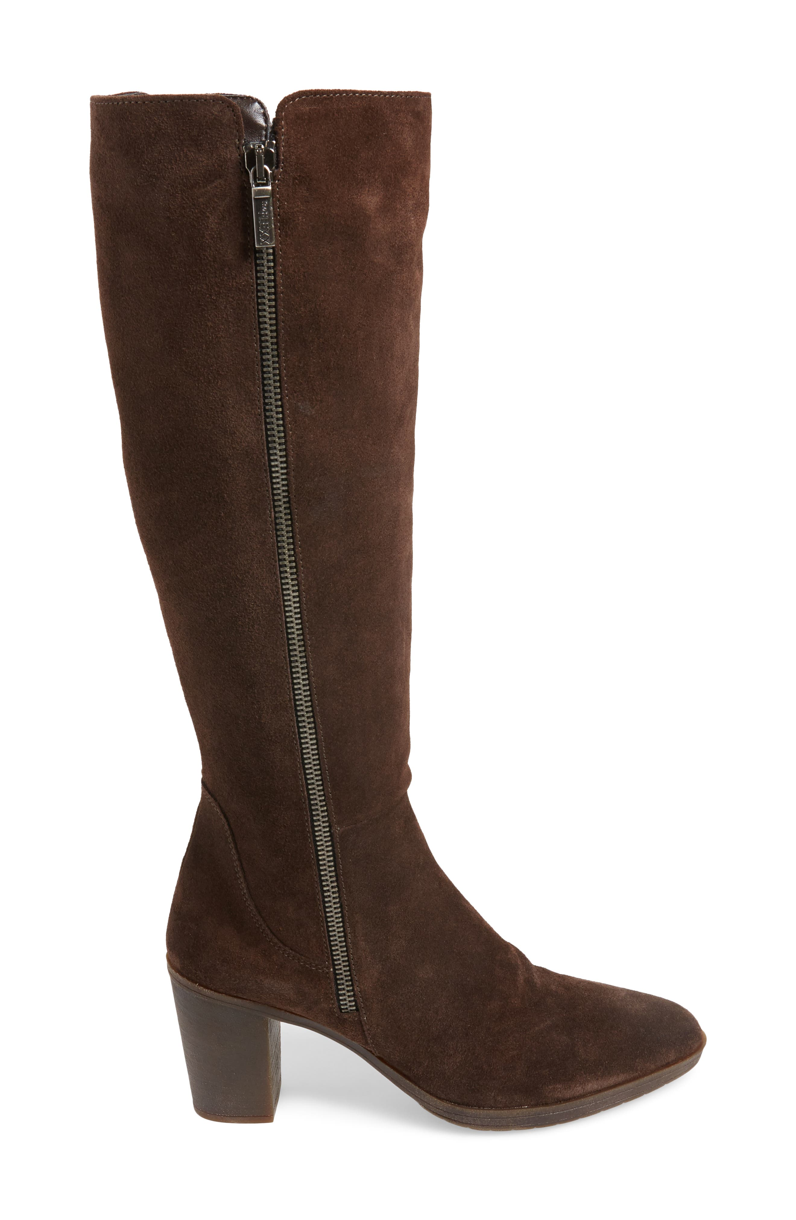 Pony Up Boot,                             Alternate thumbnail 3, color,                             Ebony Suede