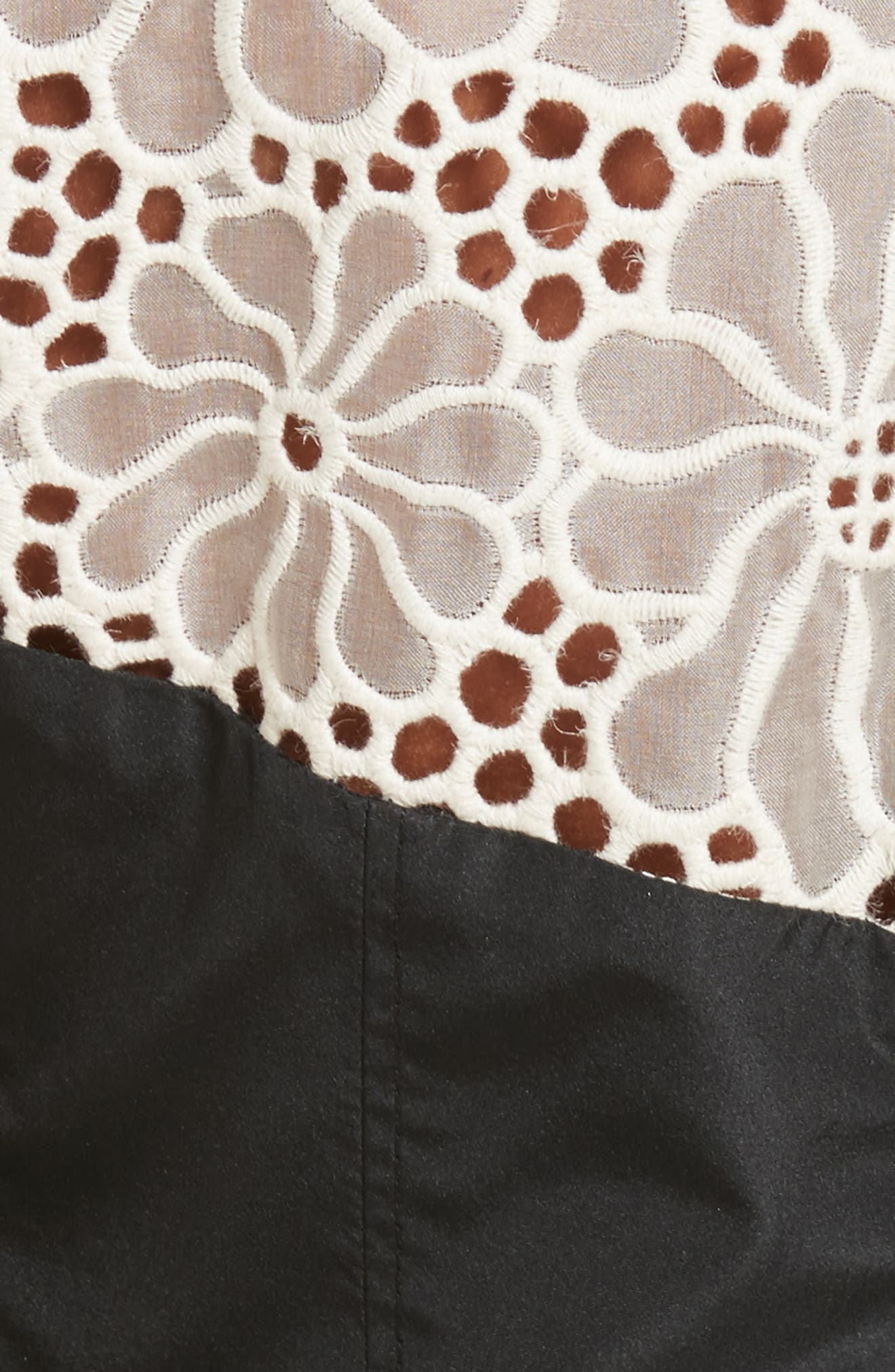 Alternate Image 6  - Rebecca Taylor Malorie Embroidered Eyelet Top