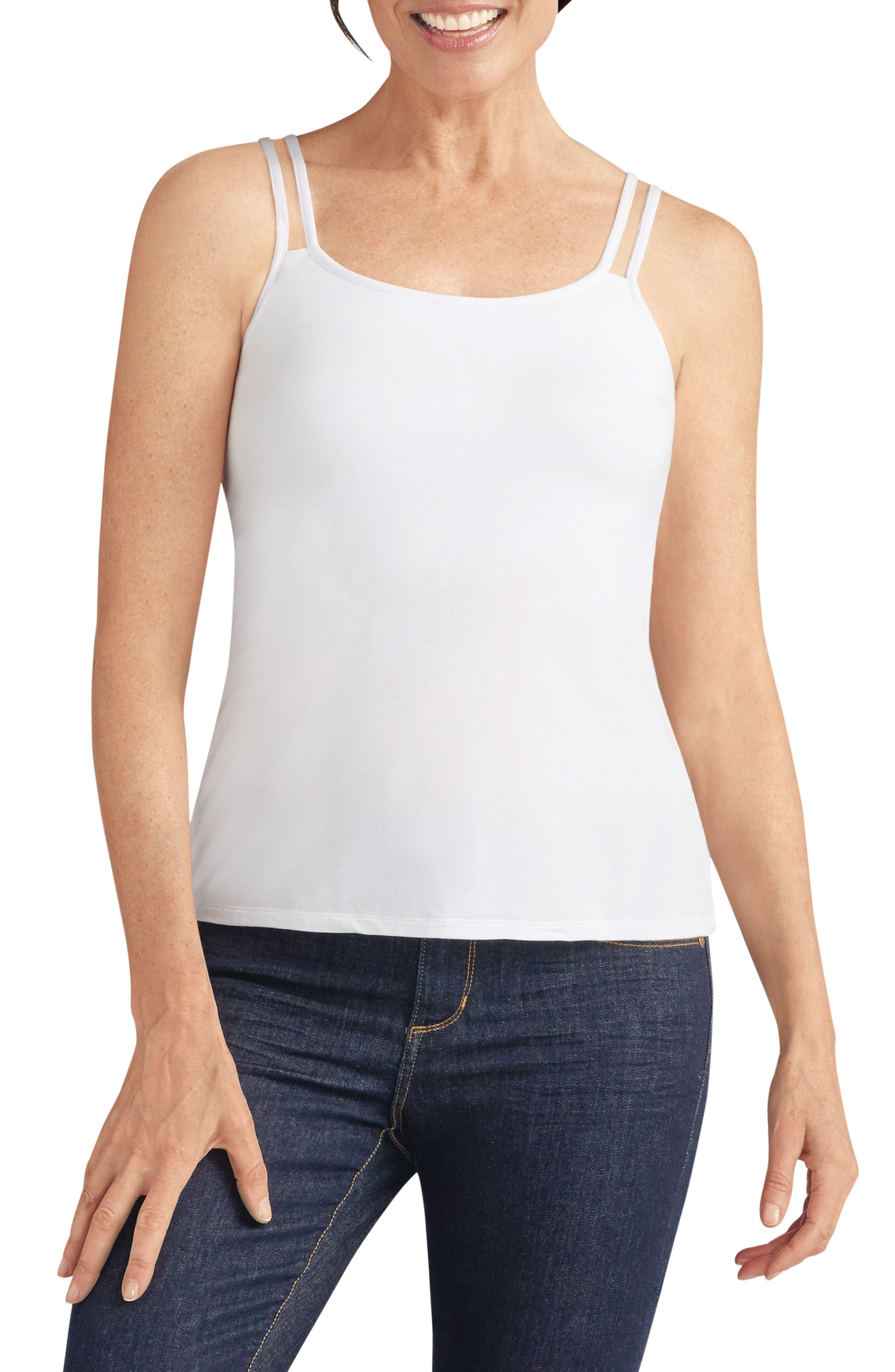 'Valetta' Shelf Bra Camisole,                         Main,                         color, White