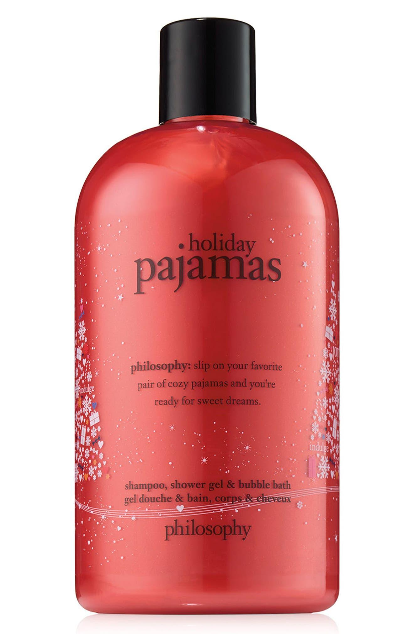 holiday pajamas shampoo, shower gel & bubble bath,                         Main,                         color, No Color