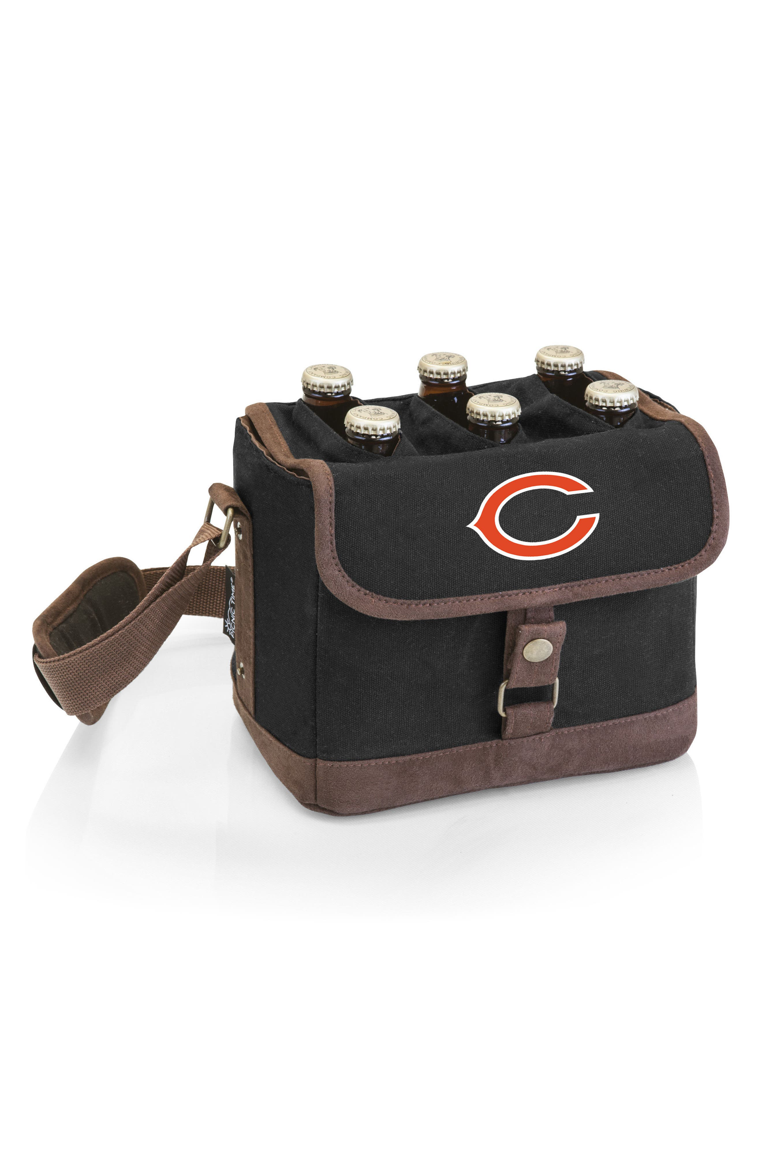 NFL Team Logo Beer Caddy Cooler Tote,                             Main thumbnail 1, color,                             Chicago Bears