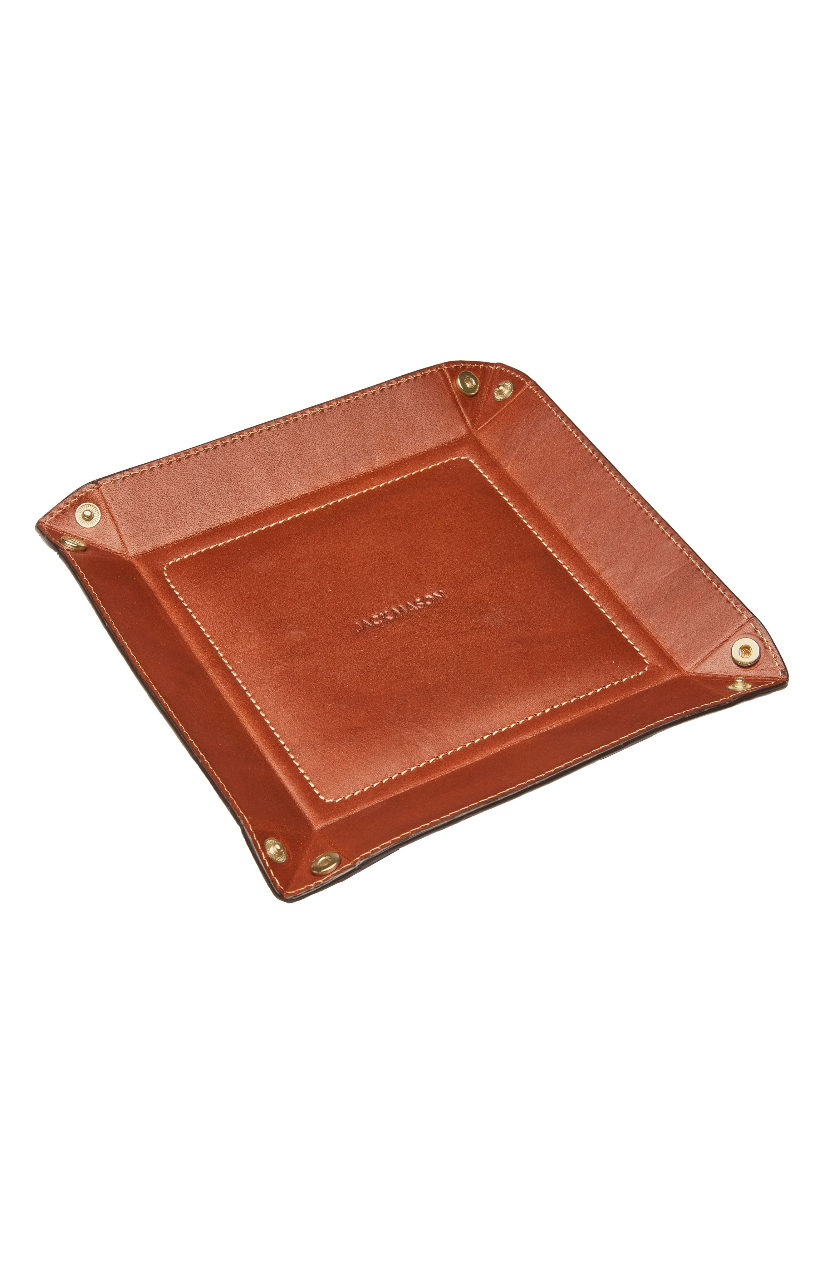 Alternate Image 2  - Jack Mason Small Pinched Leather Valet Tray