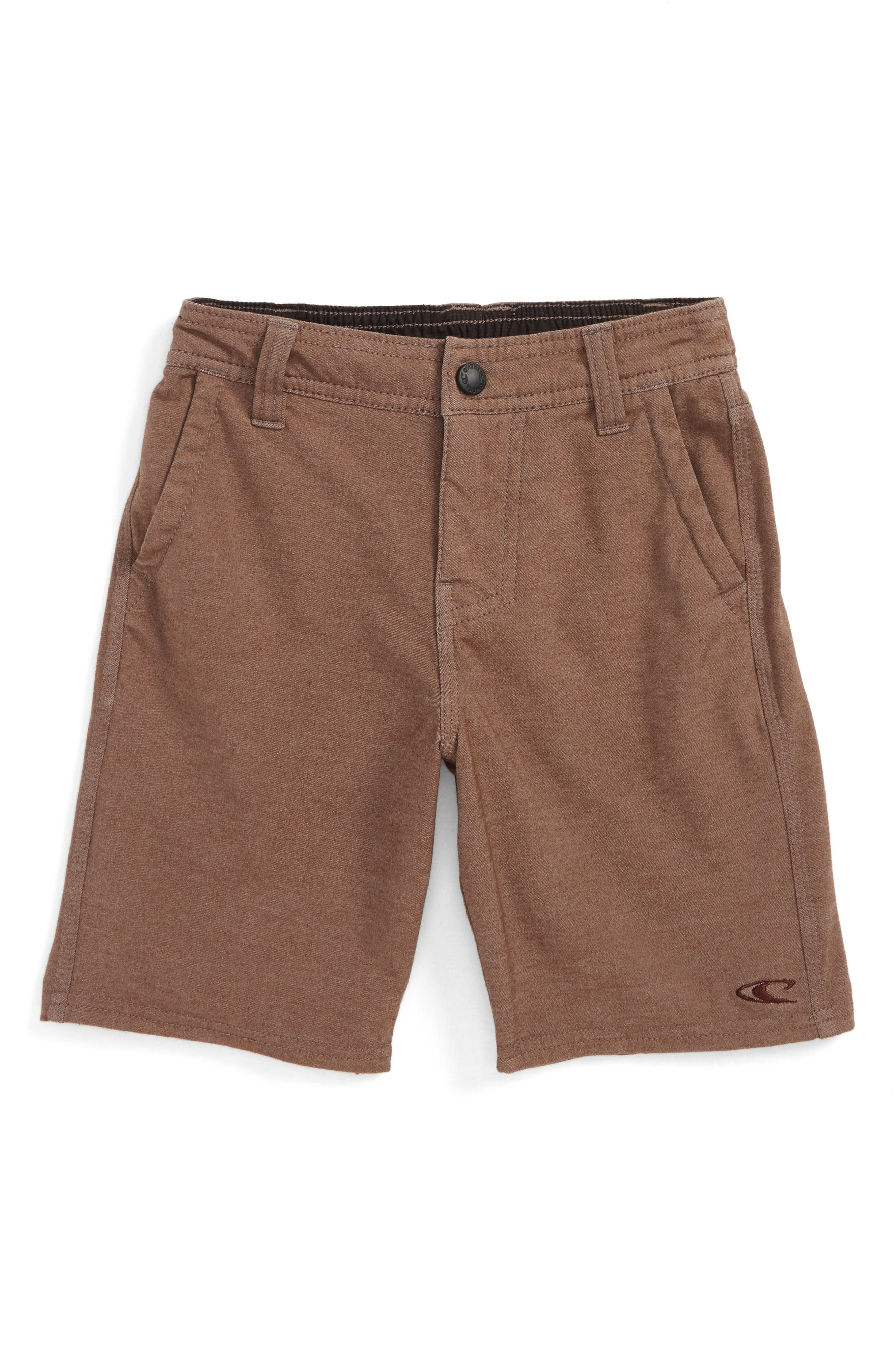 Locked Hybrid Board Shorts,                         Main,                         color, Coffee