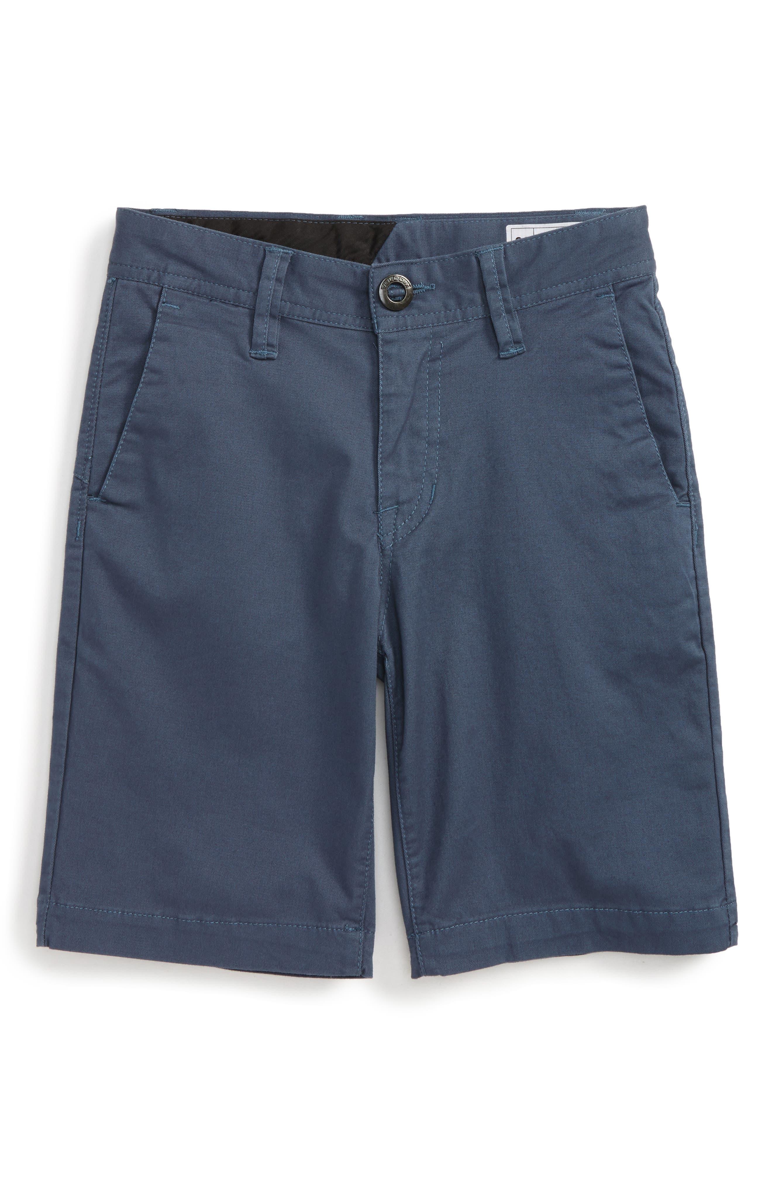 Cotton Twill Shorts,                         Main,                         color, Blue Air