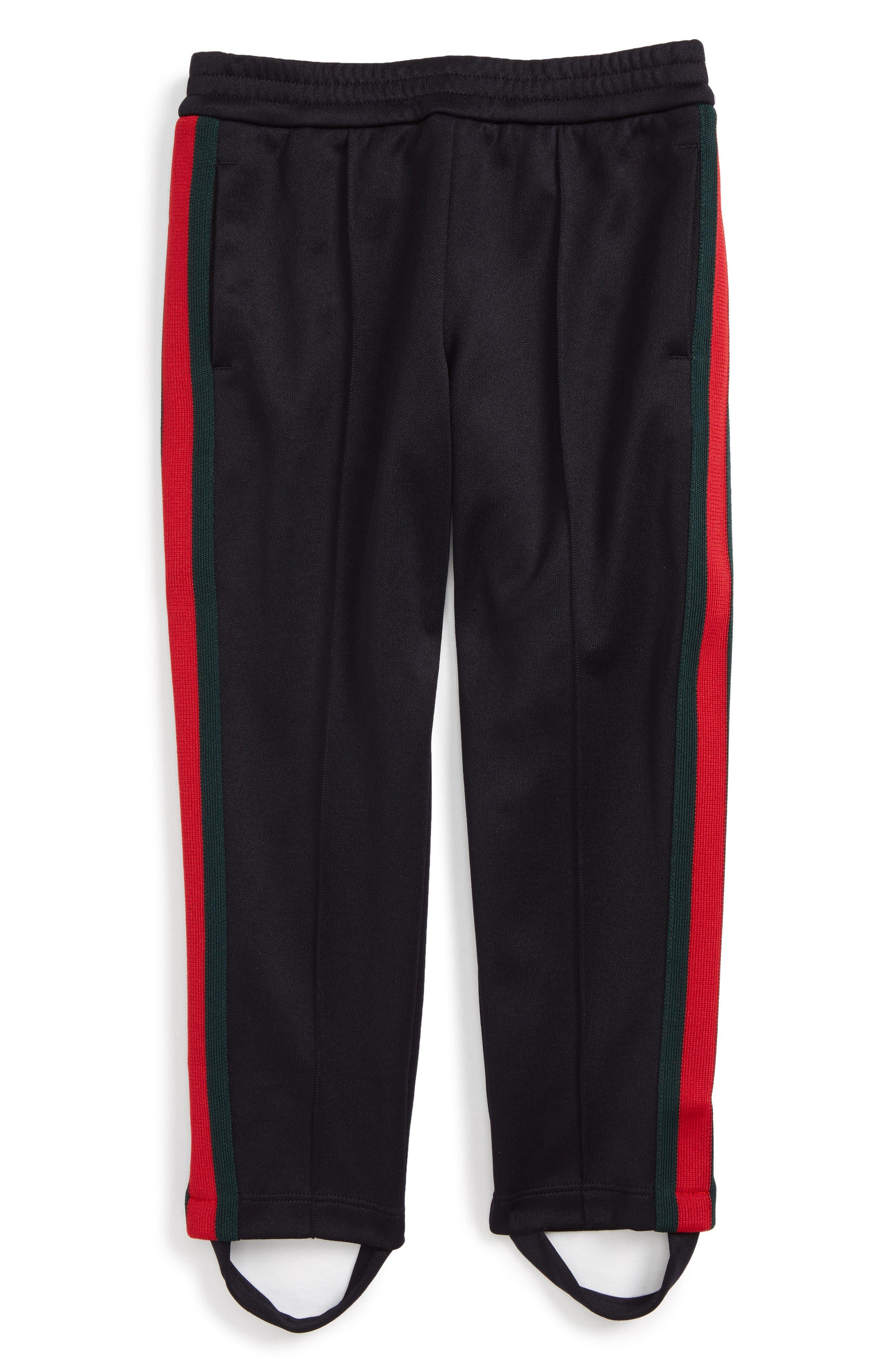 Stripe Jersey Stirrup Pants,                             Main thumbnail 1, color,                             Ink