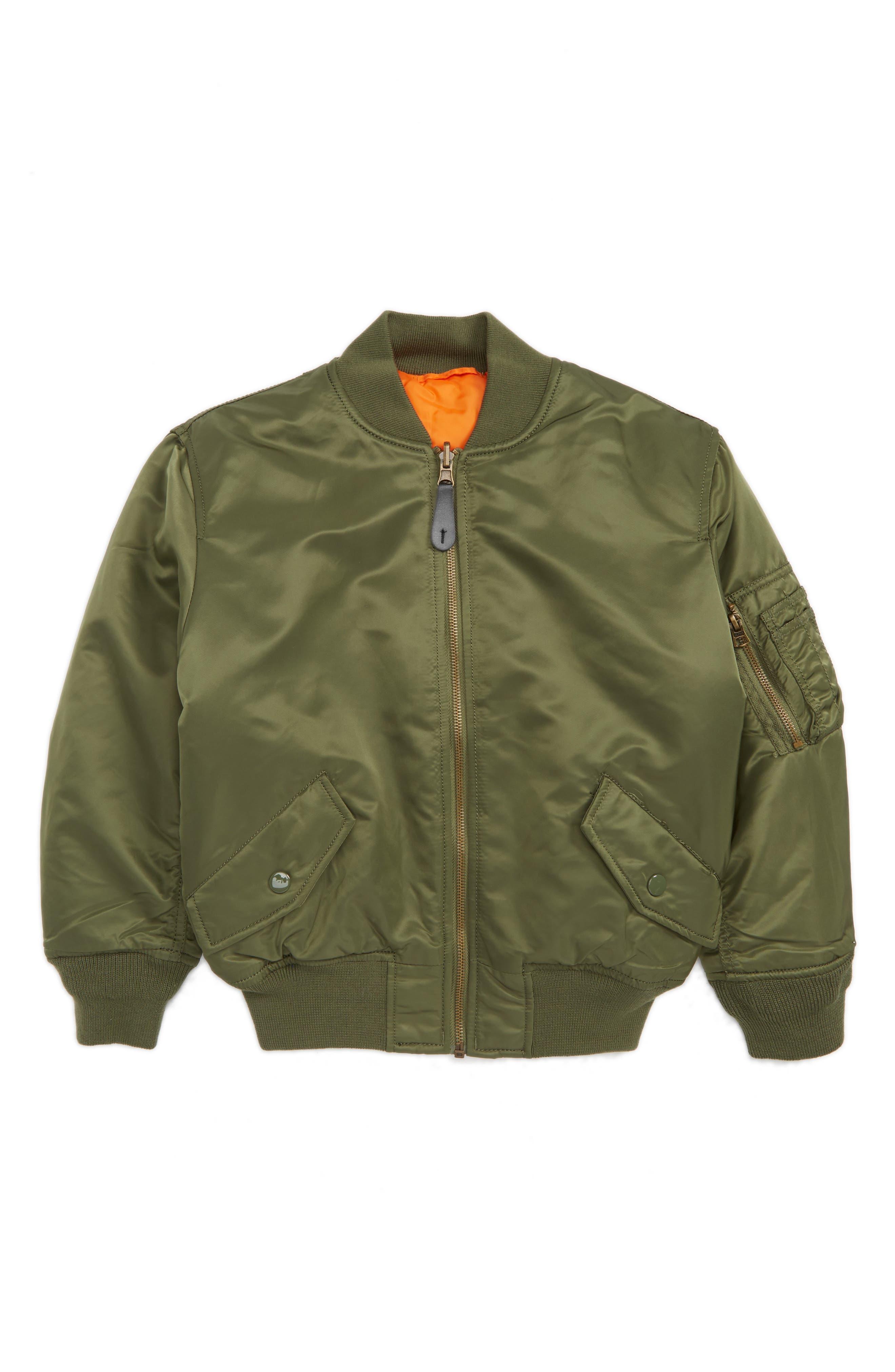 MA-1 Flight Jacket,                         Main,                         color, Sage Green