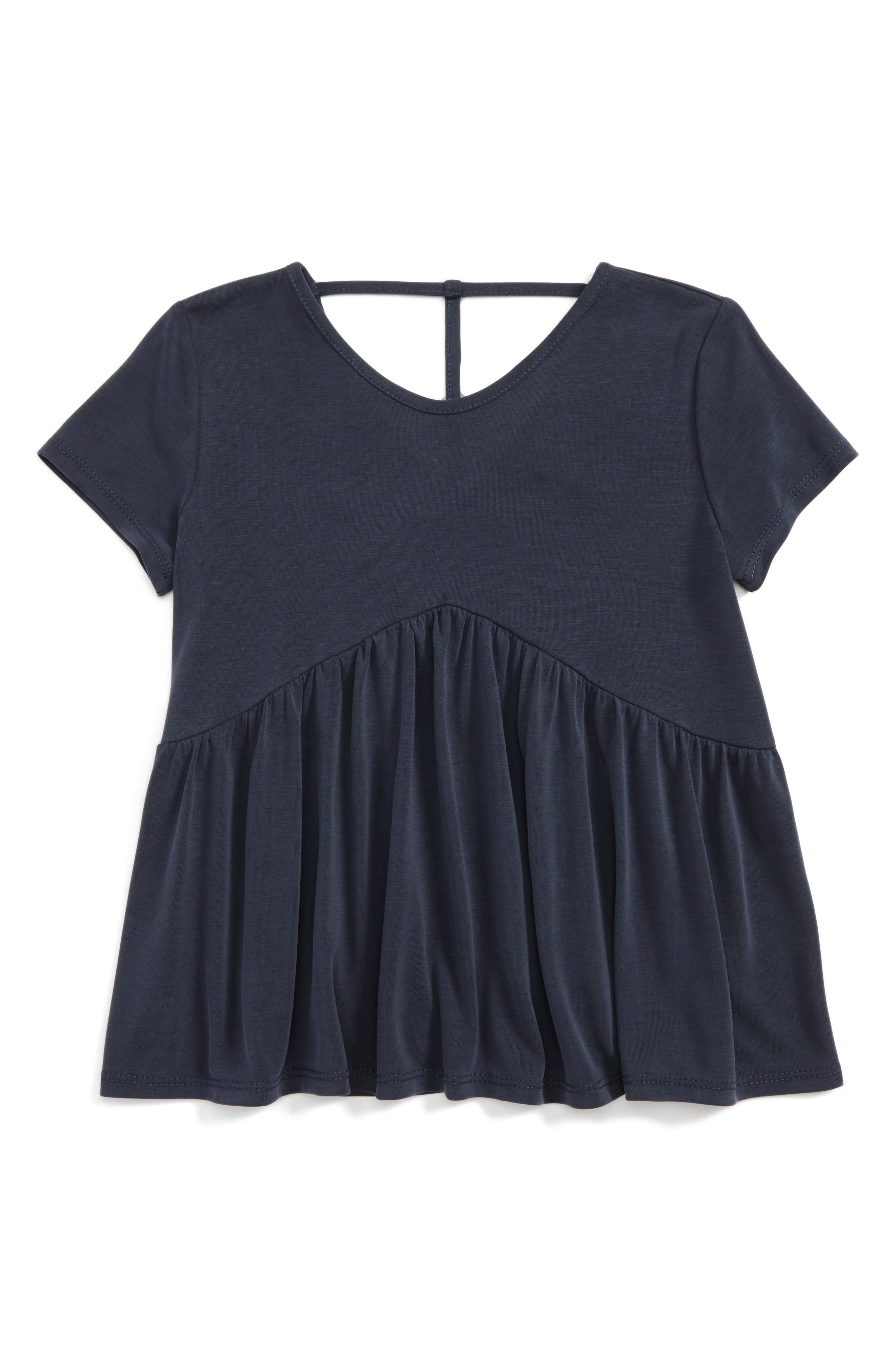 Alternate Image 1 Selected - For All Seasons Ruffle Tee (Big Girls)