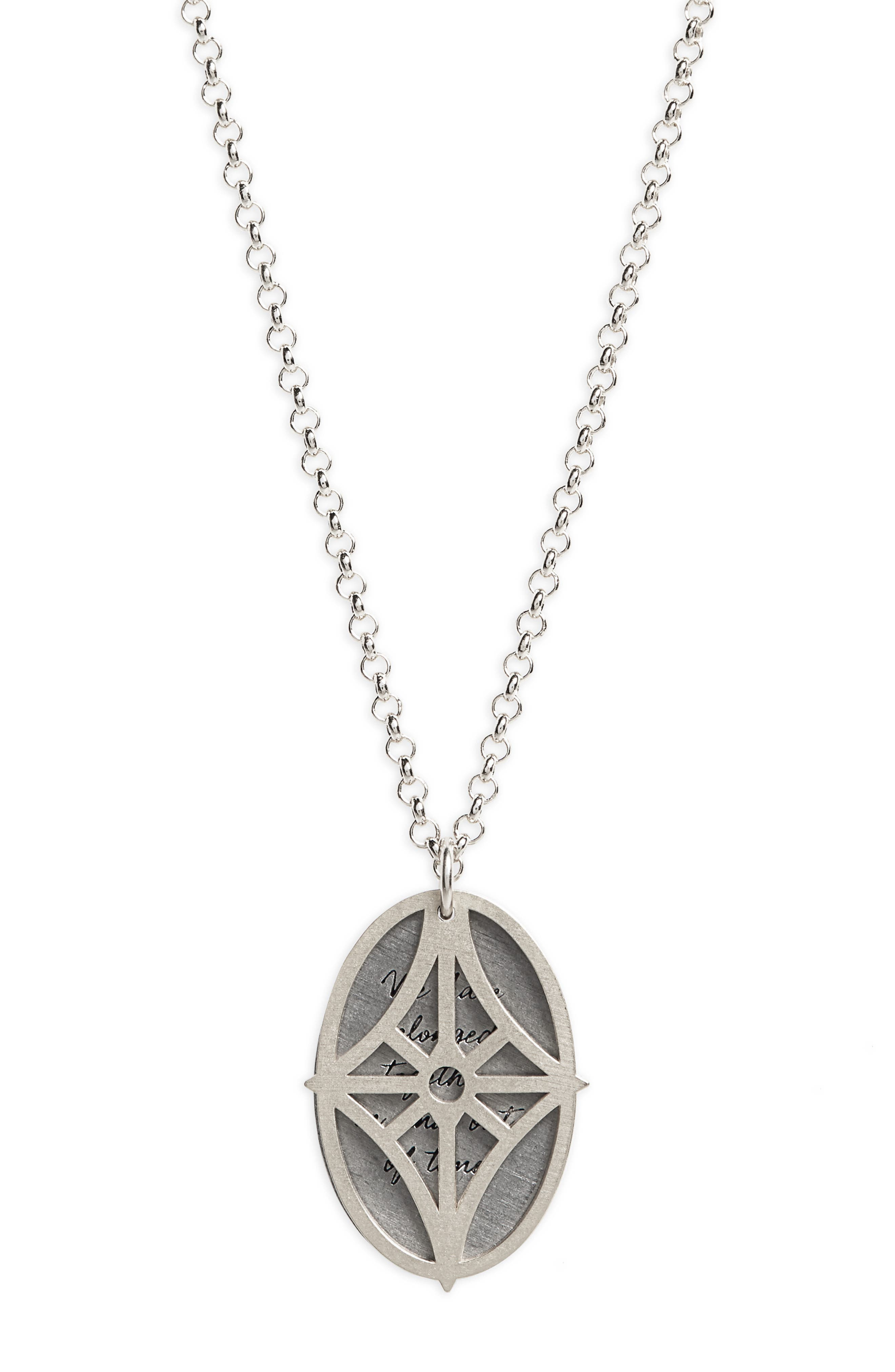 Legacy - We Have Belonged Together Tiered Pendant Necklace,                             Alternate thumbnail 3, color,                             Silver