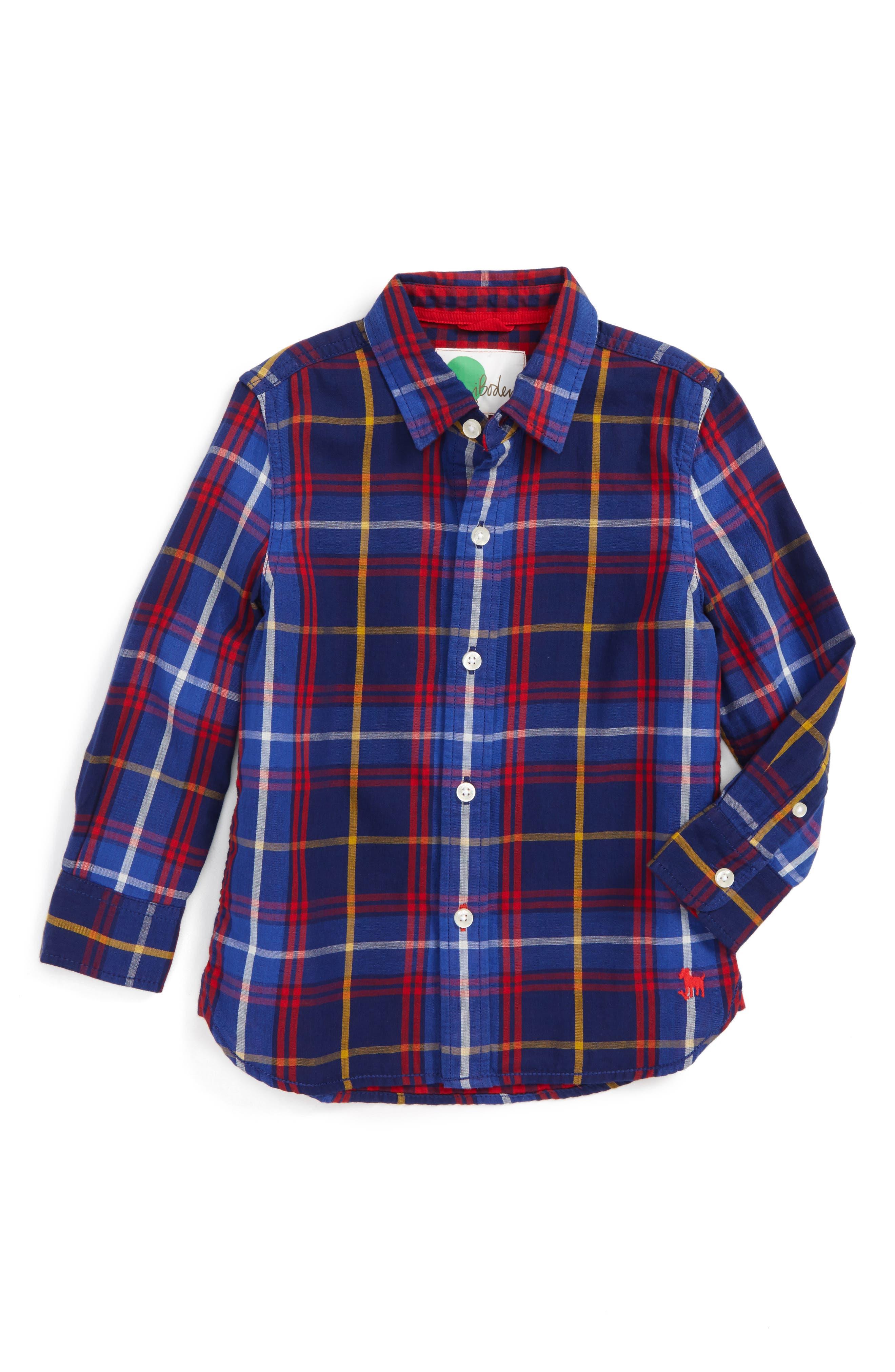 Mini Boden Double Cloth Shirt (Toddler Boys, Little Boys & Big Boys)