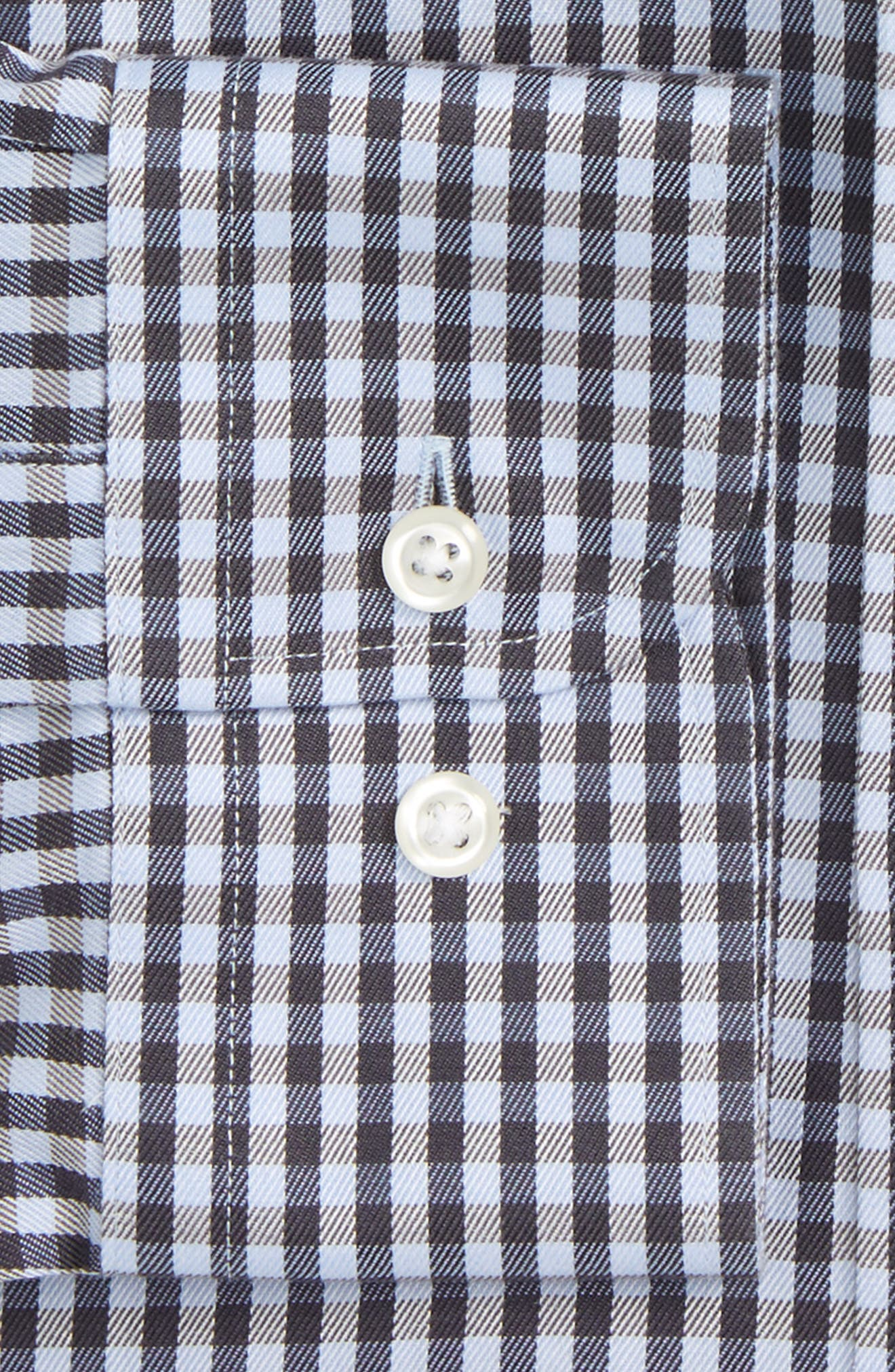 Smartcare<sup>™</sup> Traditional Fit Check Dress Shirt,                             Alternate thumbnail 5, color,                             Grey Stonehenge