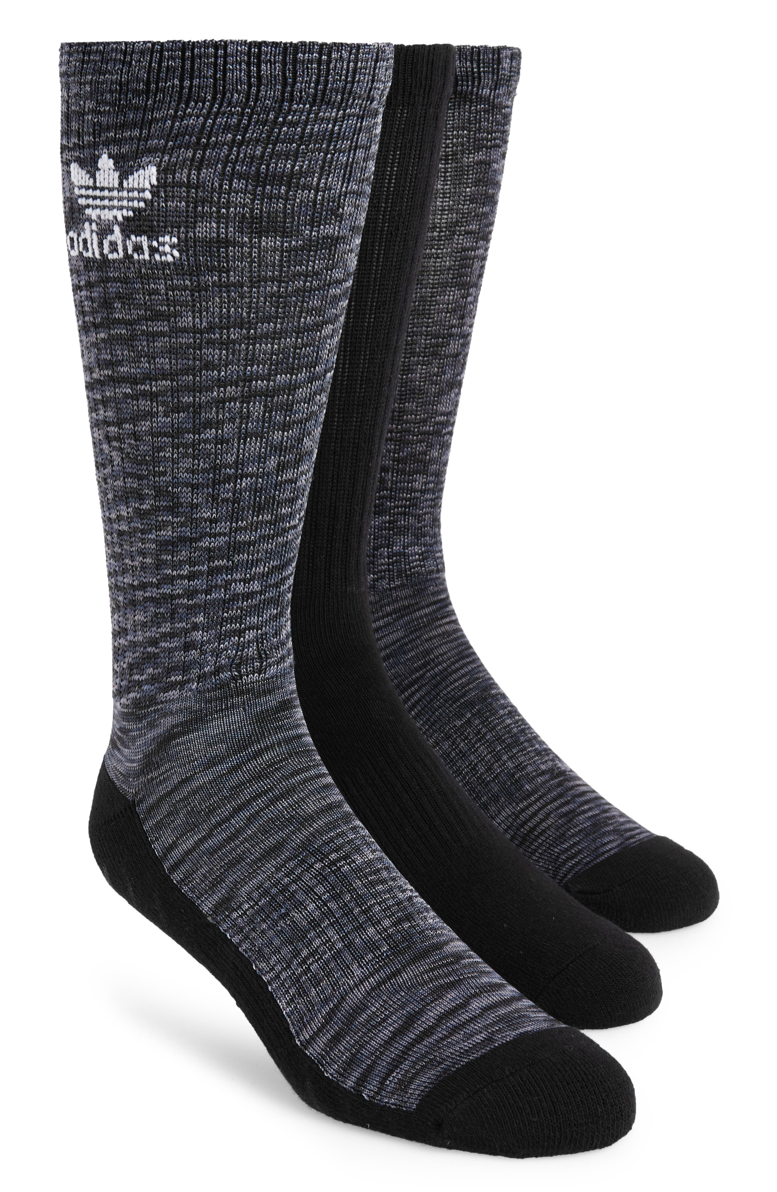 Main Image - adidas Originals 3-Pack Space Dye Crew Socks