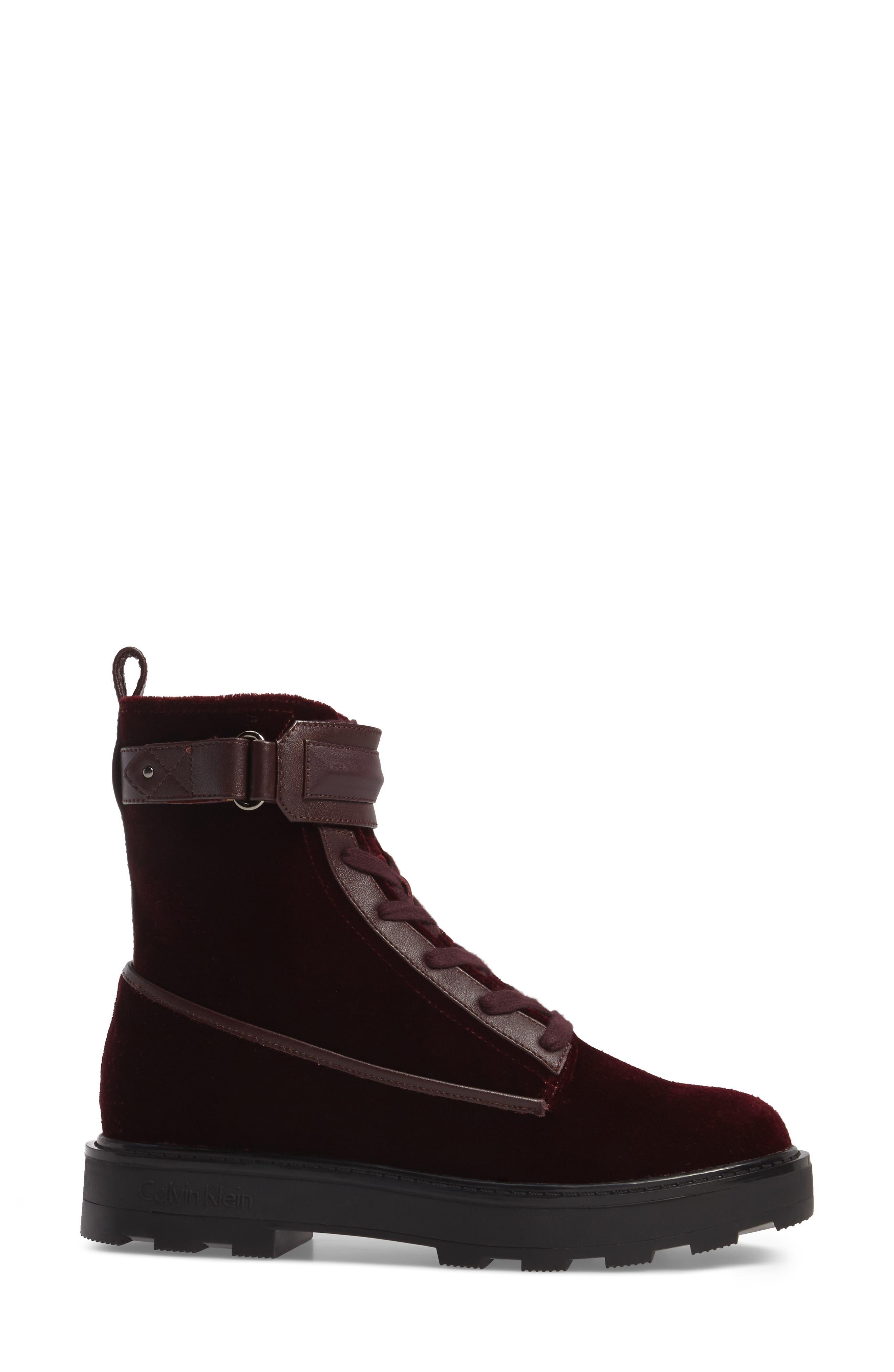Vanora Boot,                             Alternate thumbnail 3, color,                             Burgundy Velvet