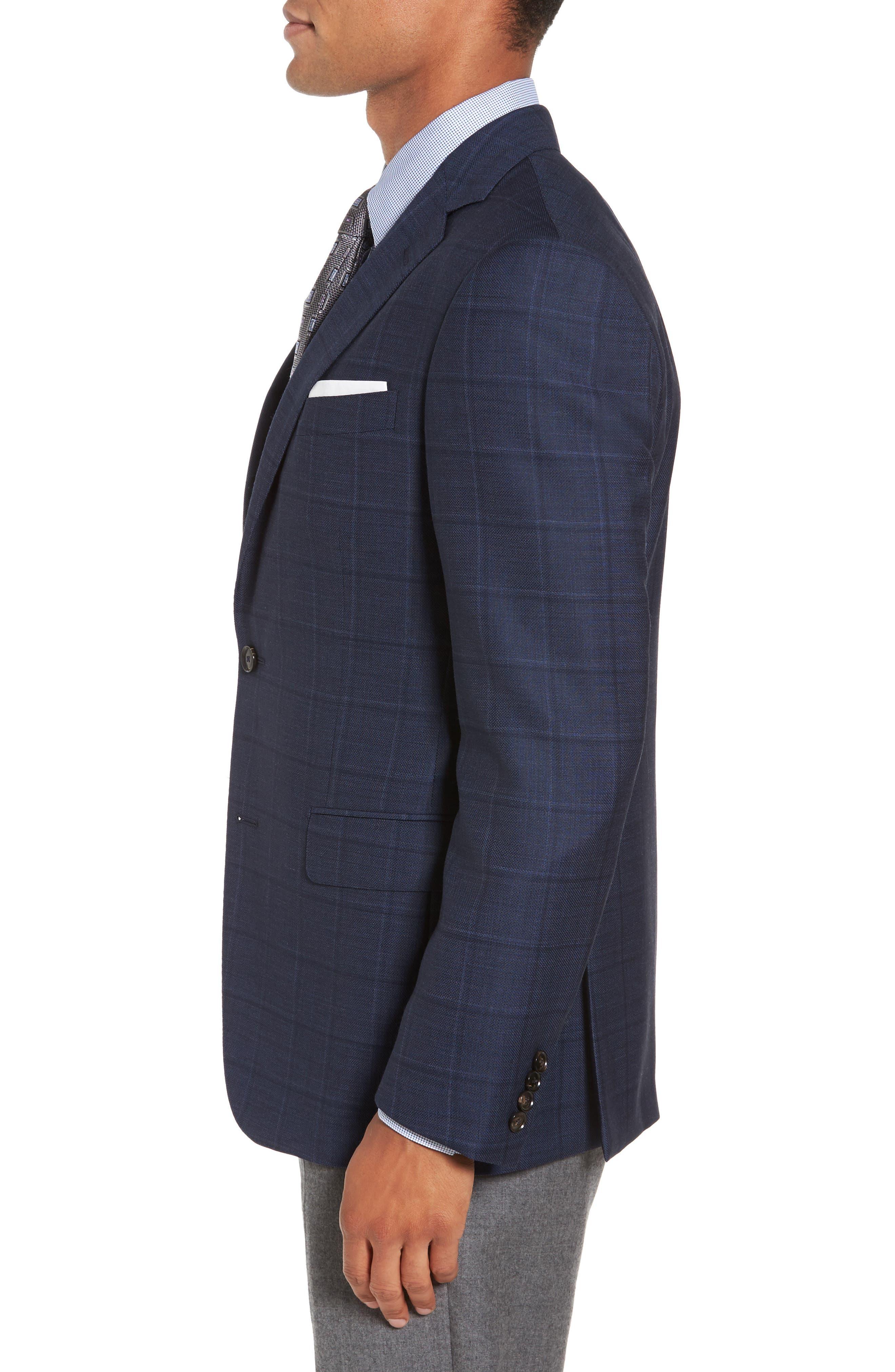 Alternate Image 3  - Pal Zileri Classic Fit Windowpane Wool Sport Coat