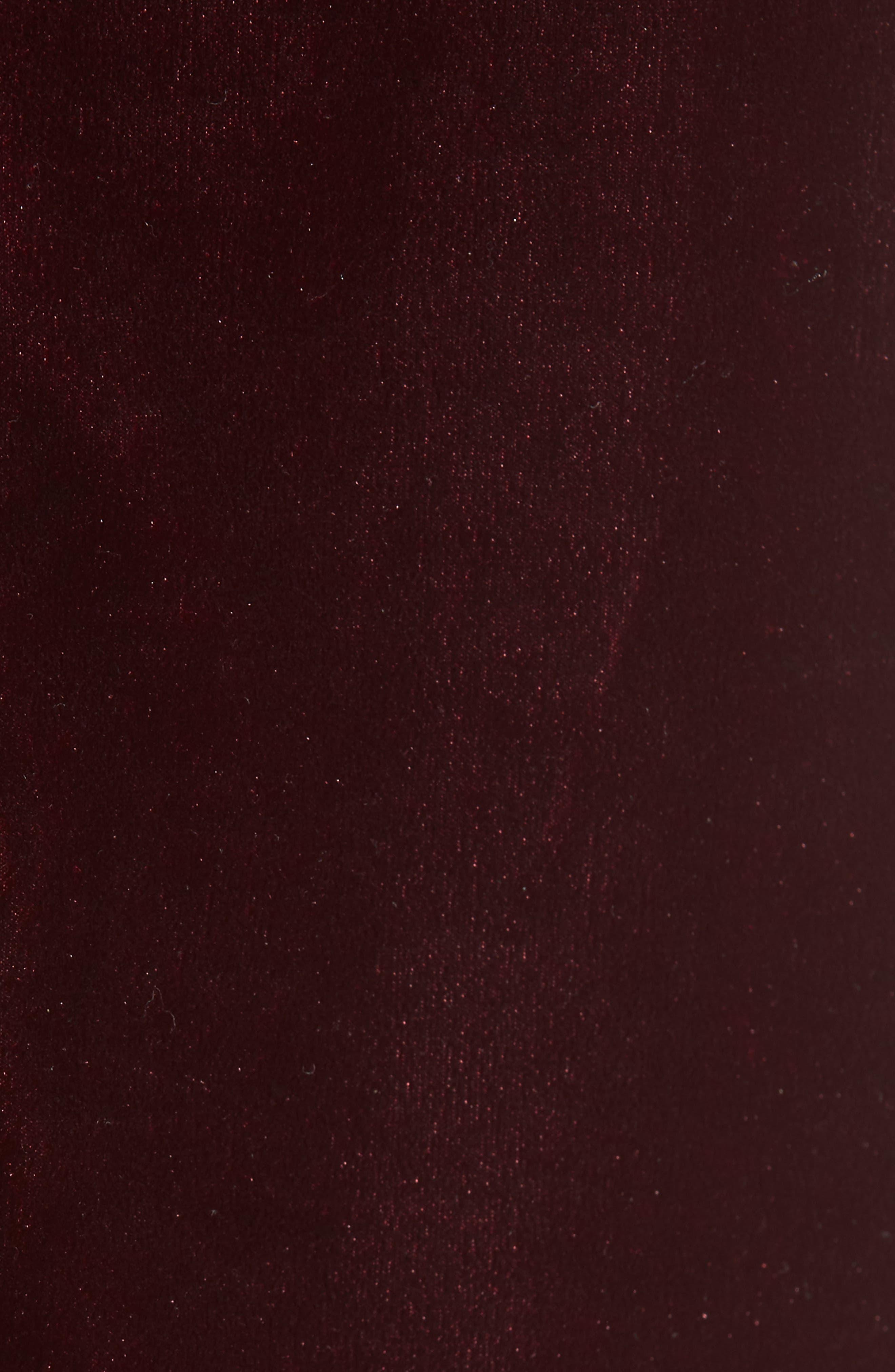L'Academie The T-Back Velvet Camisole,                             Alternate thumbnail 5, color,                             Red