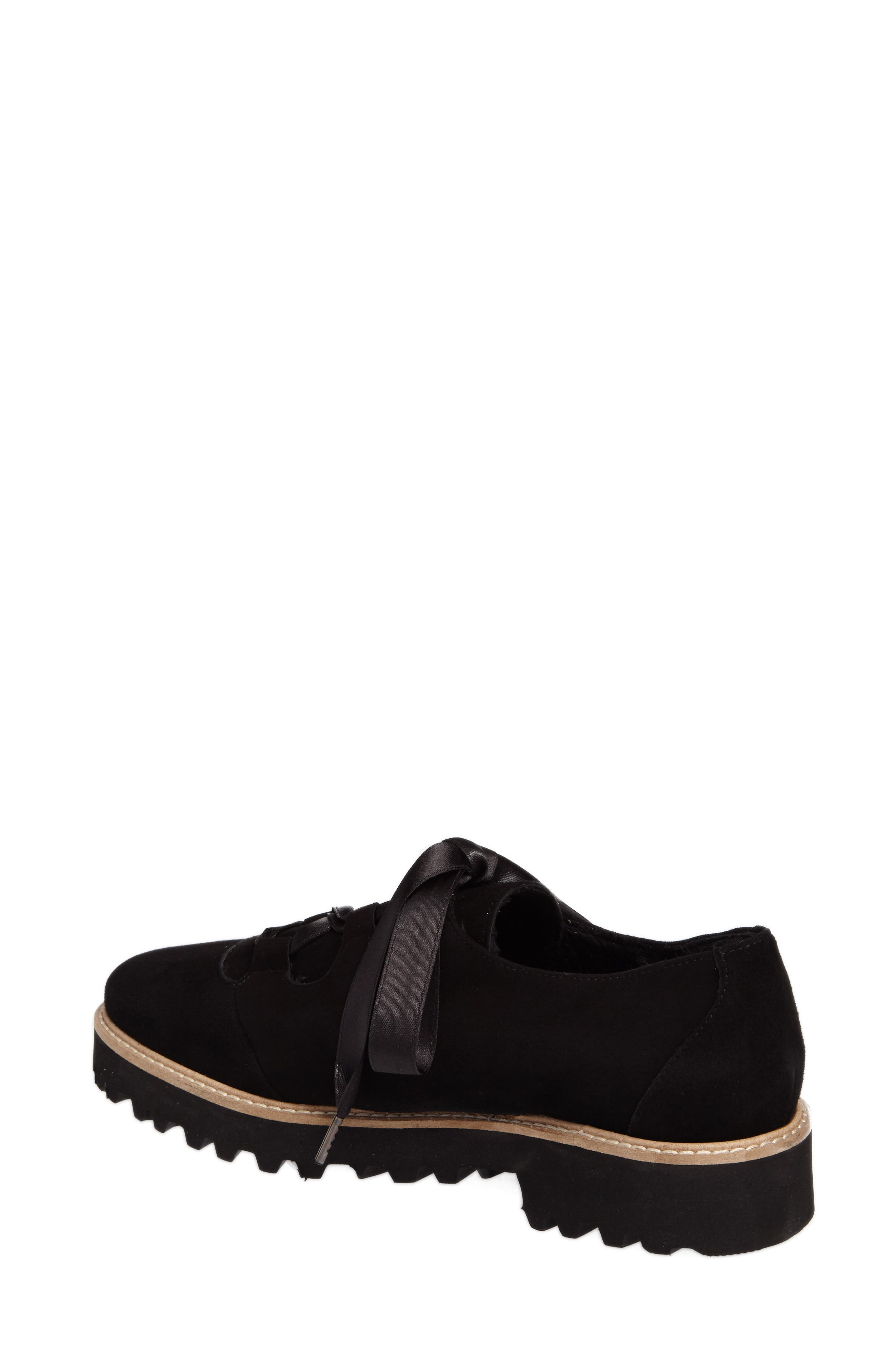 Daisy Water Resistant Oxford,                             Alternate thumbnail 2, color,                             Onyx Suede