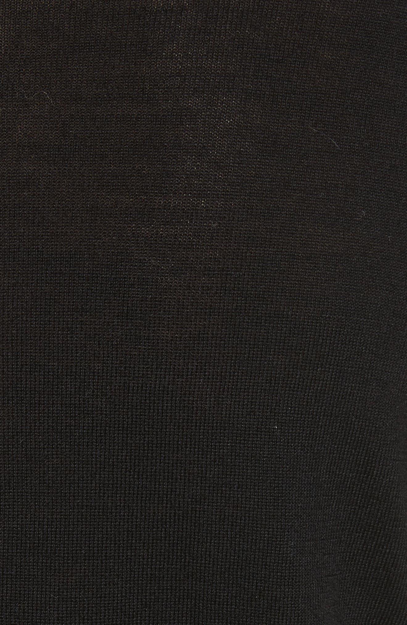 Sadie Merino Wool Blend & Silk Sweater,                             Alternate thumbnail 6, color,                             Black