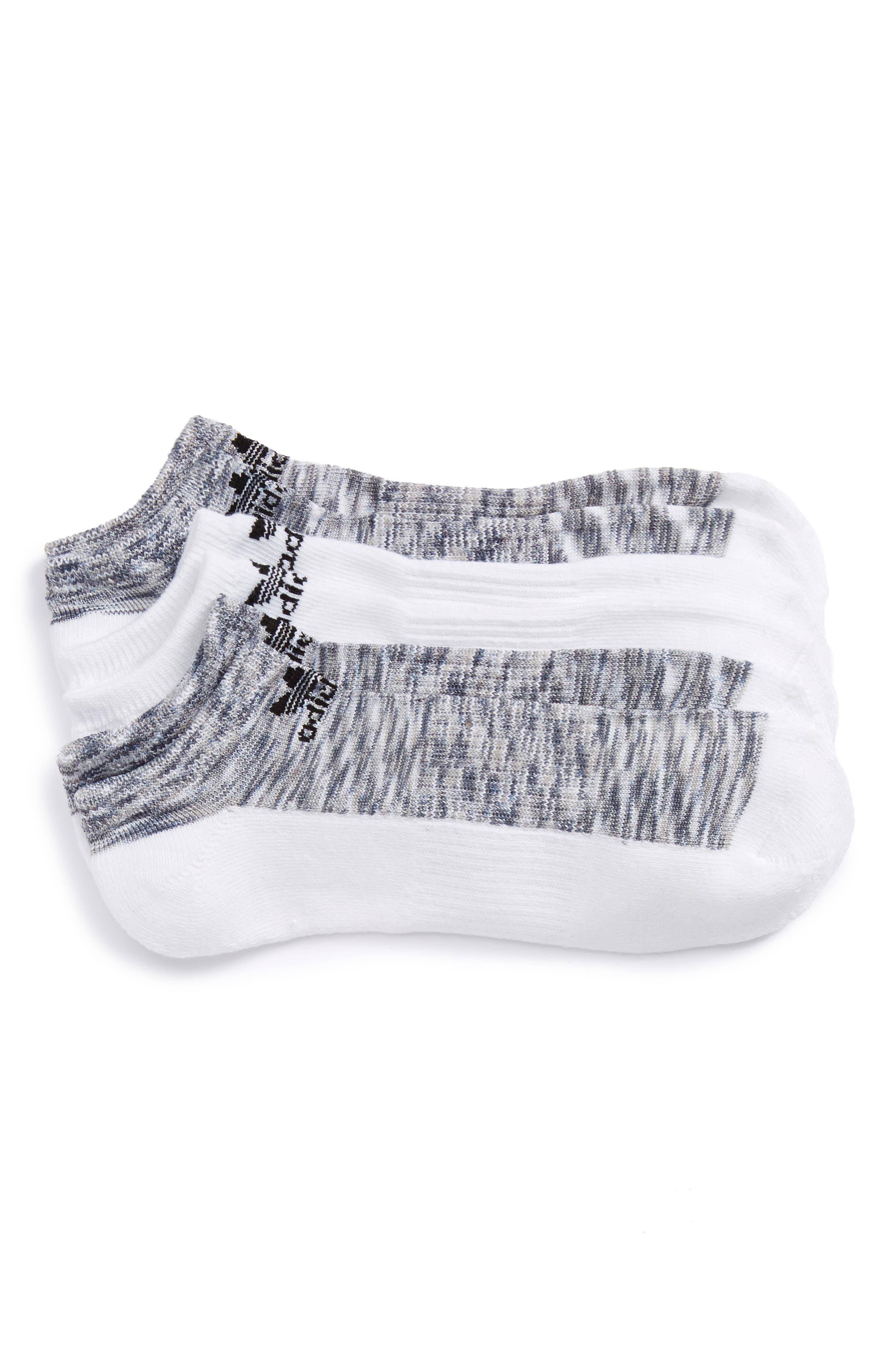 adidas Originals 3-Pack Space Dye Low Top Socks