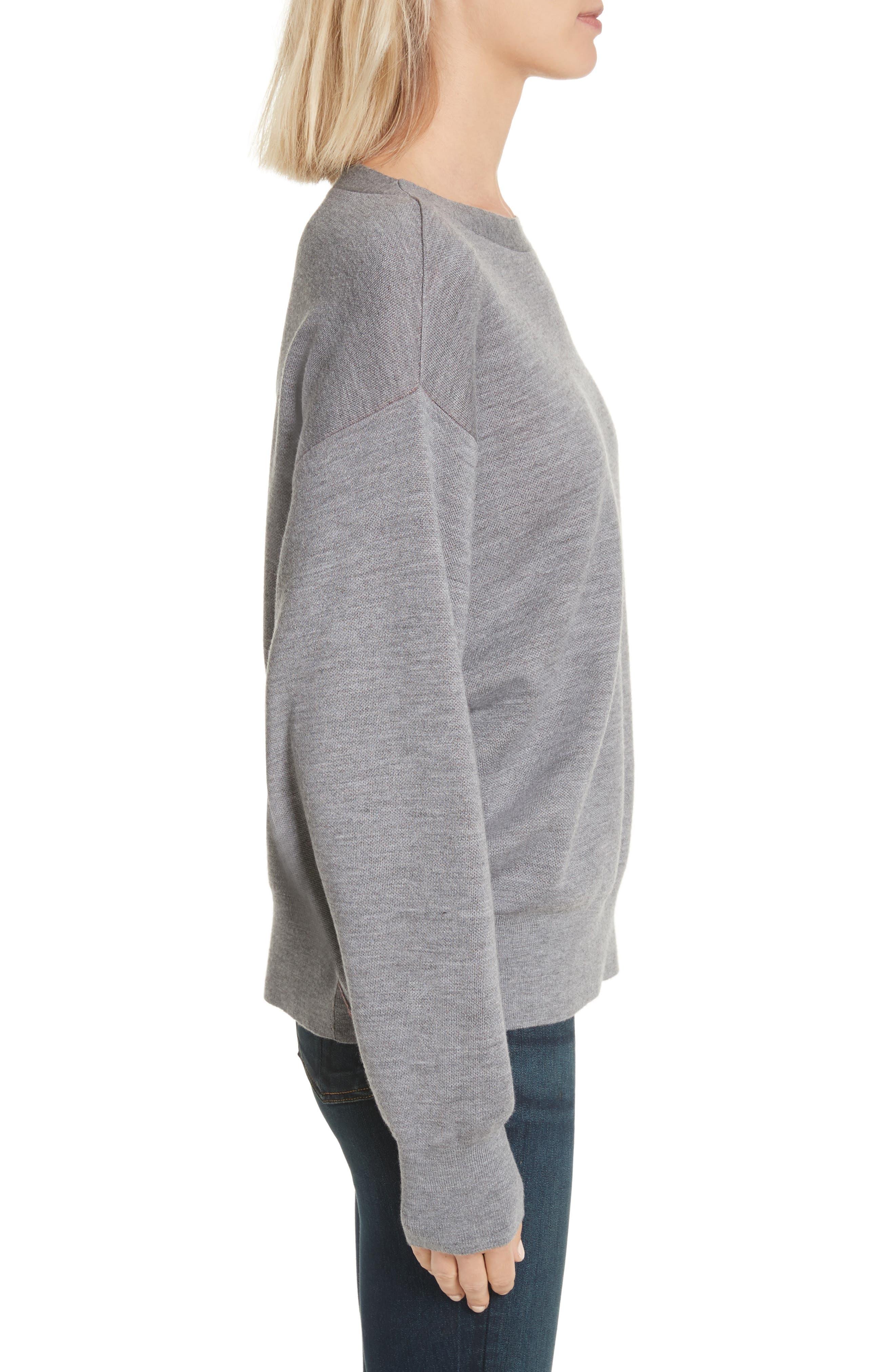 Alternate Image 4  - rag & bone Saralyn Merino Wool & Cotton Blend Crewneck Sweater