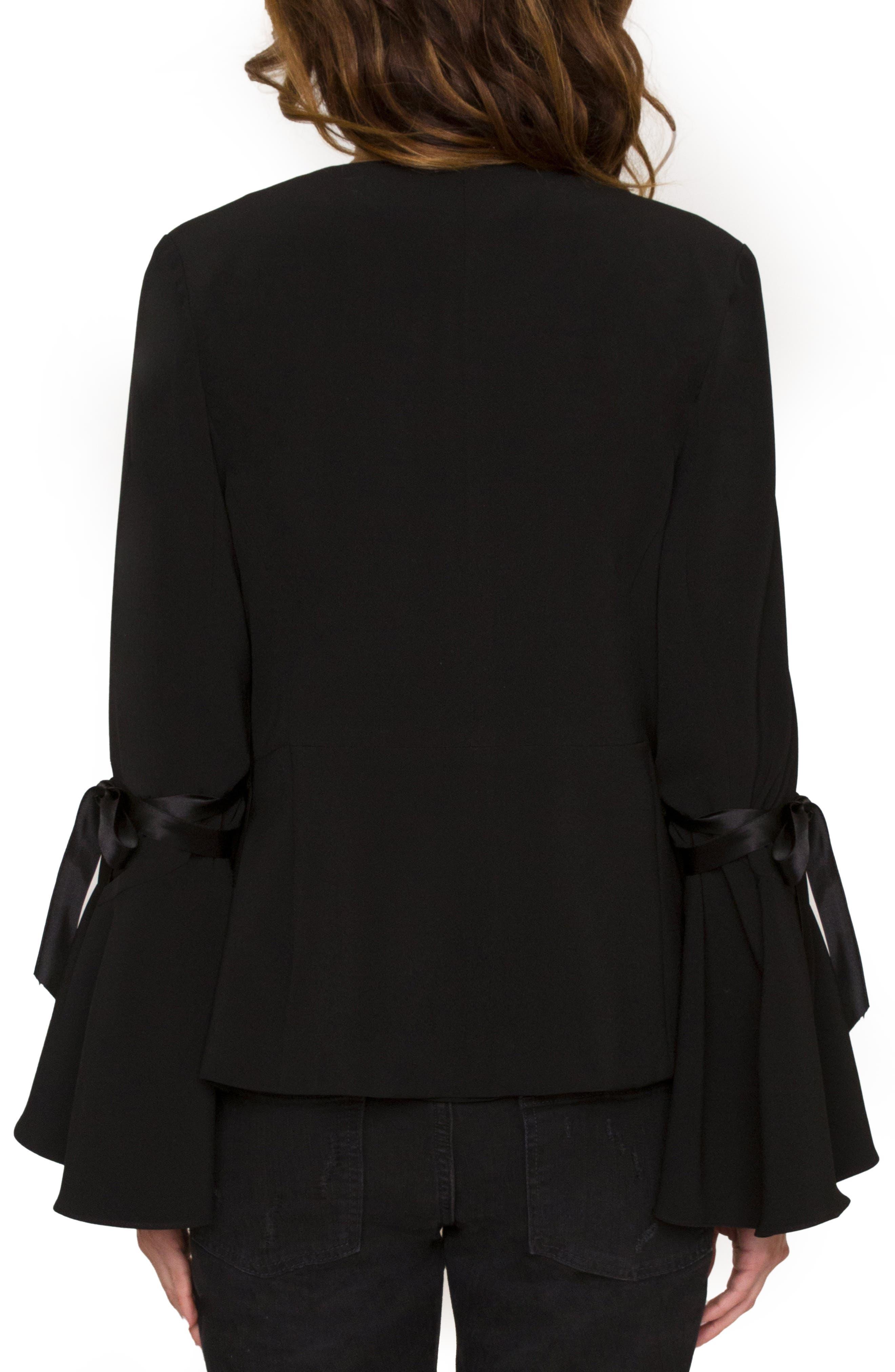 Tie Sleeve Jacket,                             Alternate thumbnail 2, color,                             Black