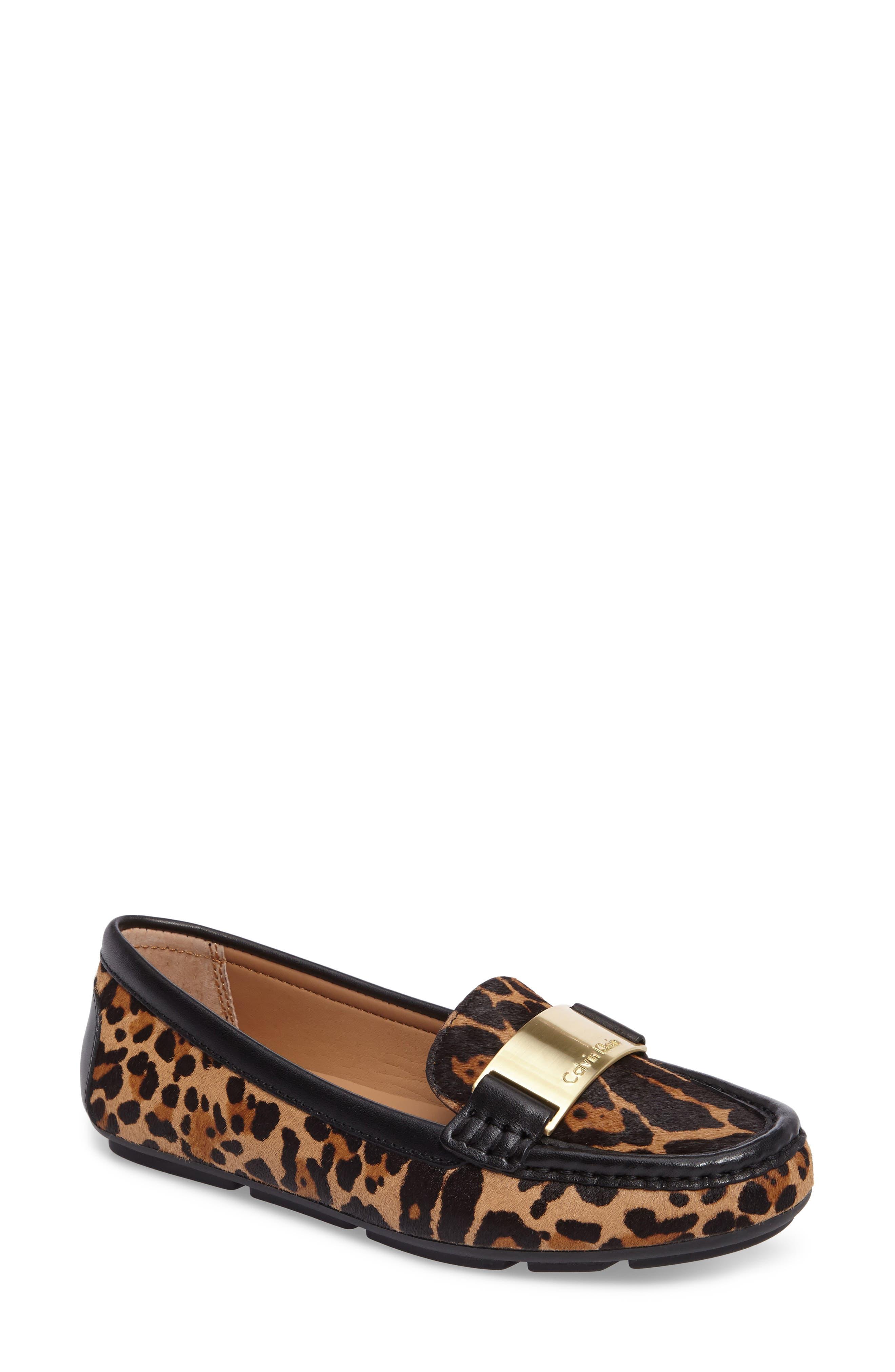 Lisette Loafer,                         Main,                         color, Natural Leopard Hair Calf
