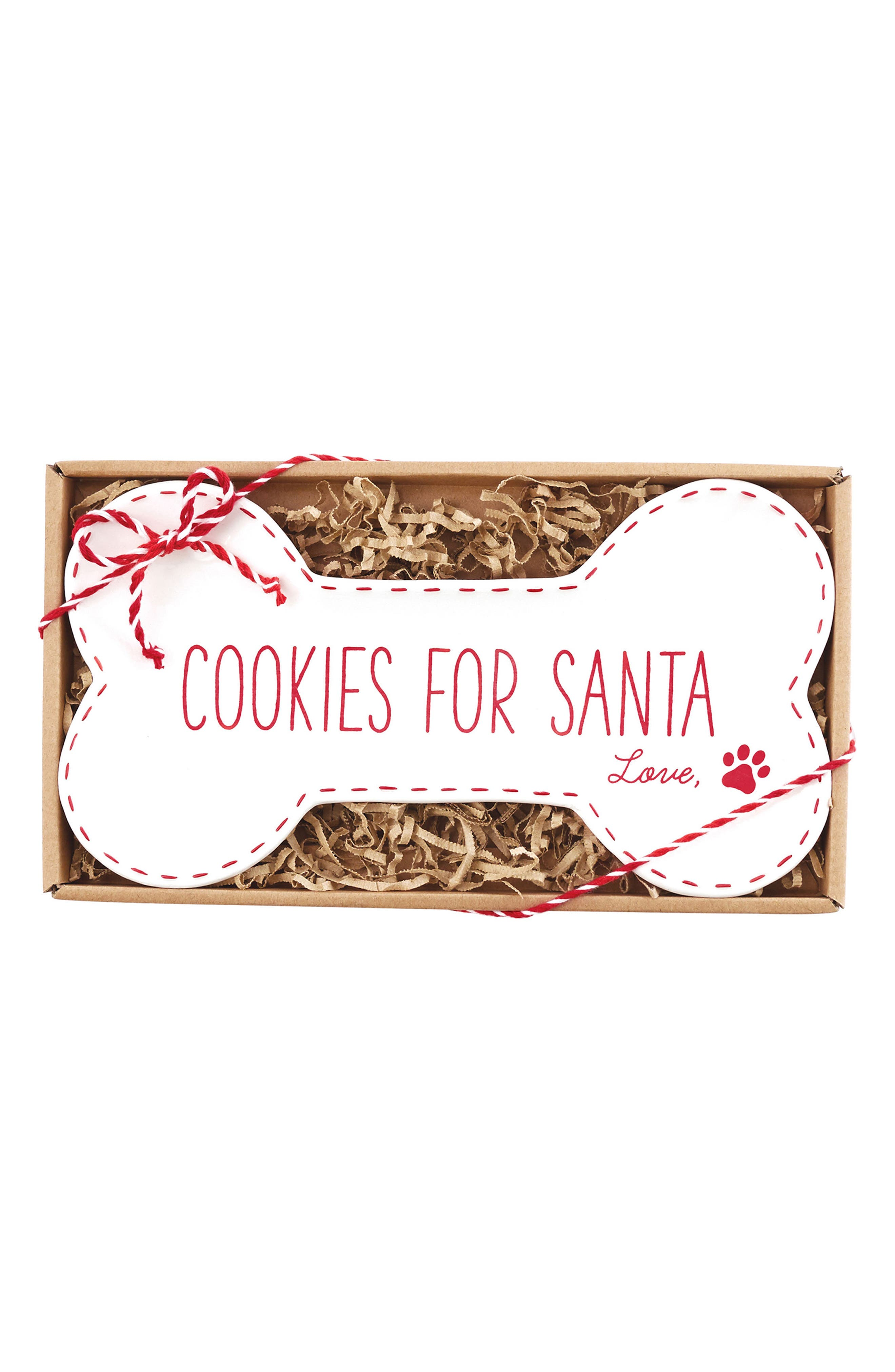 Cookies for Santa Plate,                         Main,                         color, White/ Red