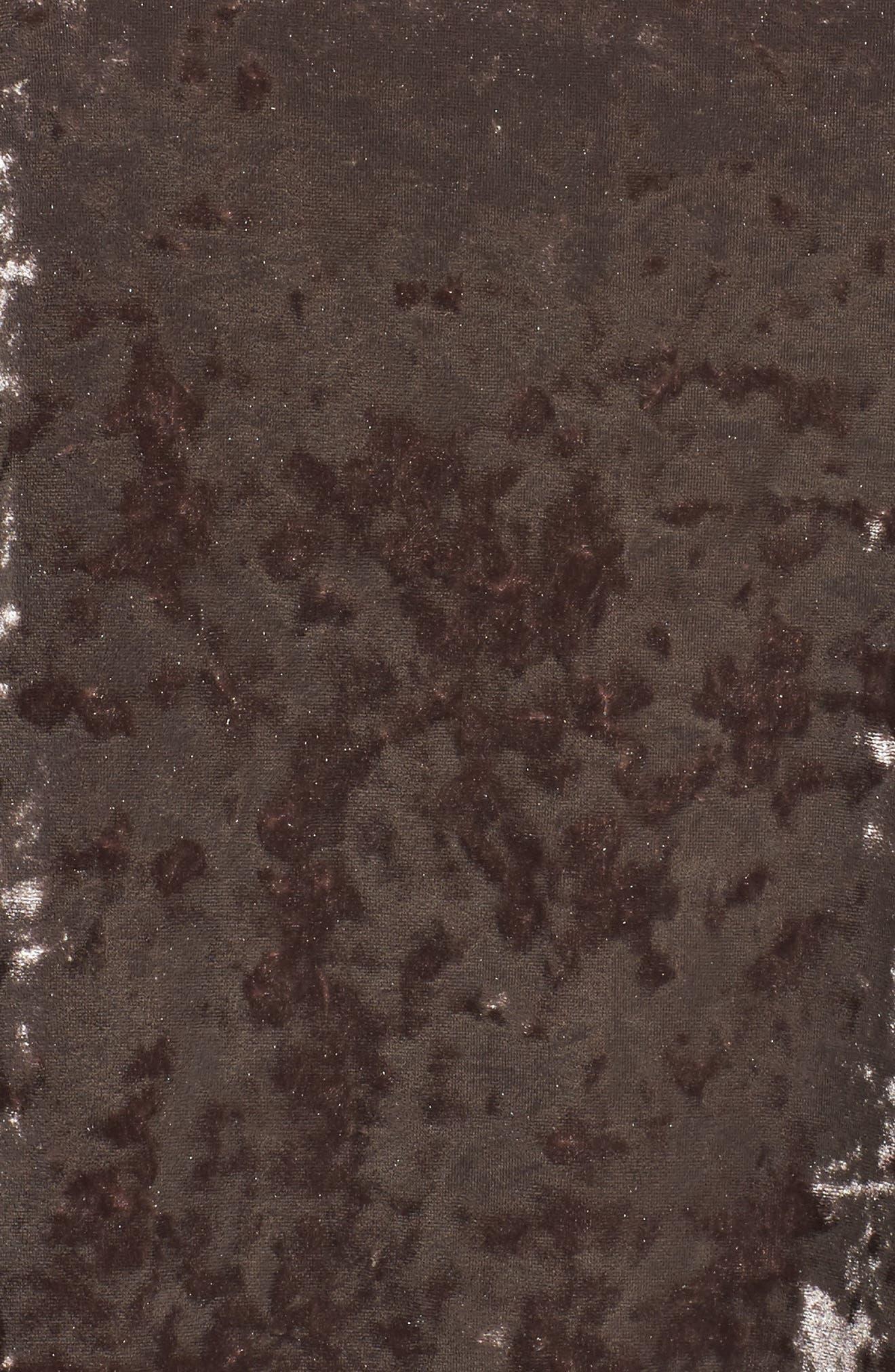 Alternate Image 5  - ELVI Drop Waist Crushed Velvet Dress (Plus Size)
