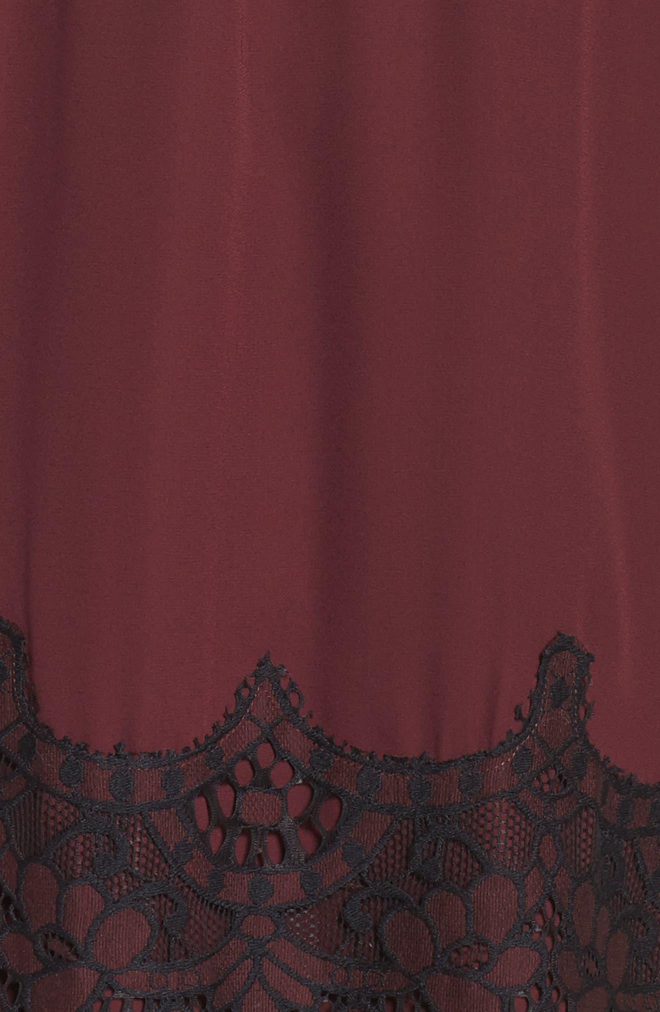 Jacky Cold Shoulder Lace Shift,                             Alternate thumbnail 5, color,                             Fig