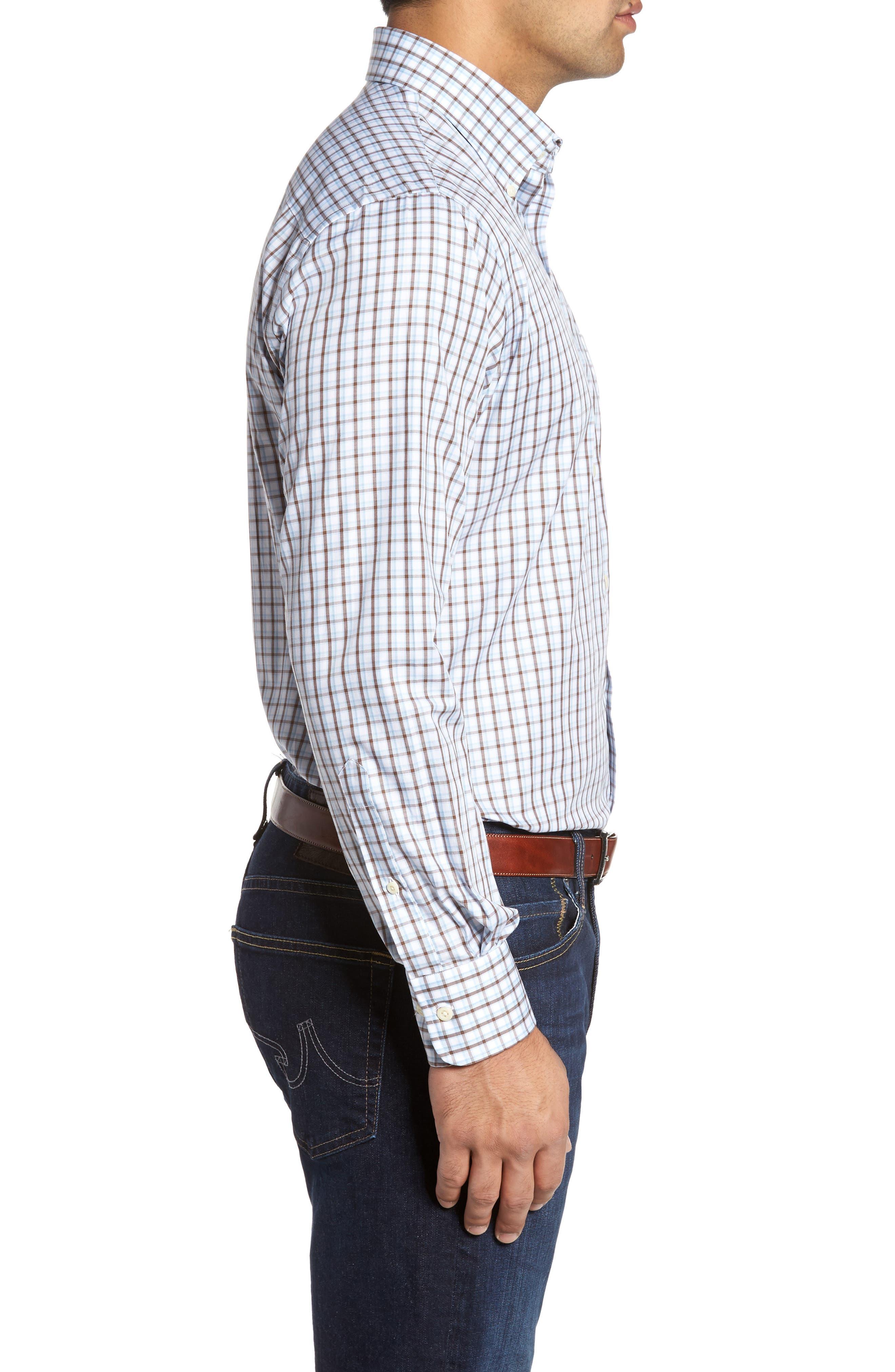 Regular Fit Crisp Pane Sport Shirt,                             Alternate thumbnail 4, color,                             Branch