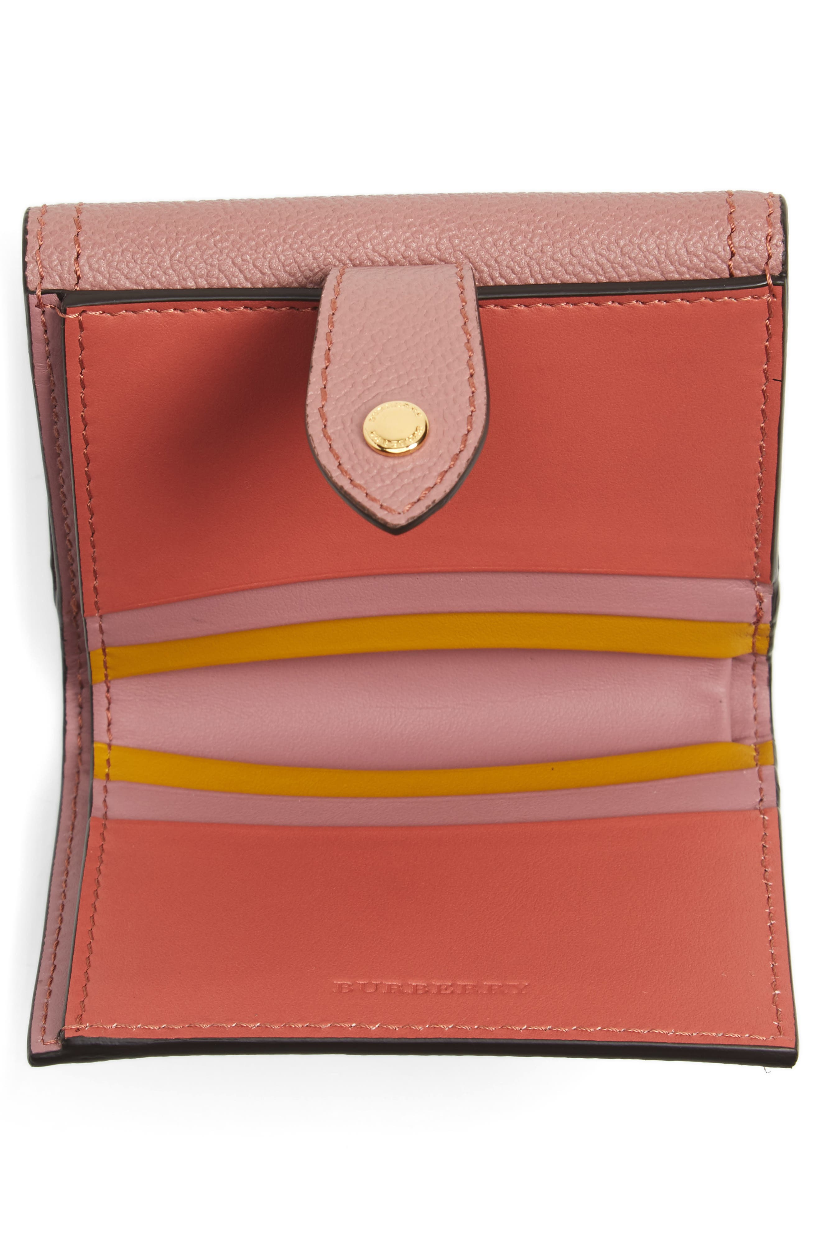 Luna French Haymarket Check Wallet,                             Alternate thumbnail 2, color,                             Dusty Pink/ Multi