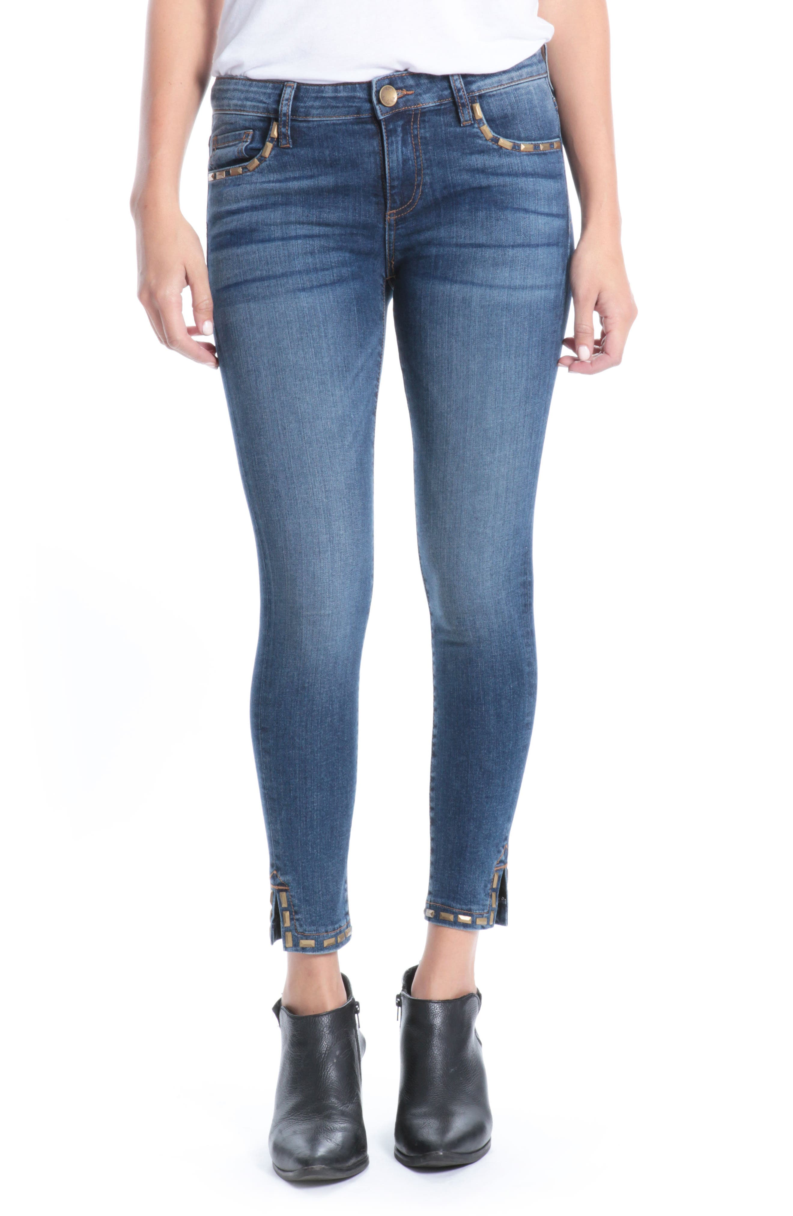 Main Image - Kut from the Kloth Donna Ankle Skinny Jeans (Varied)