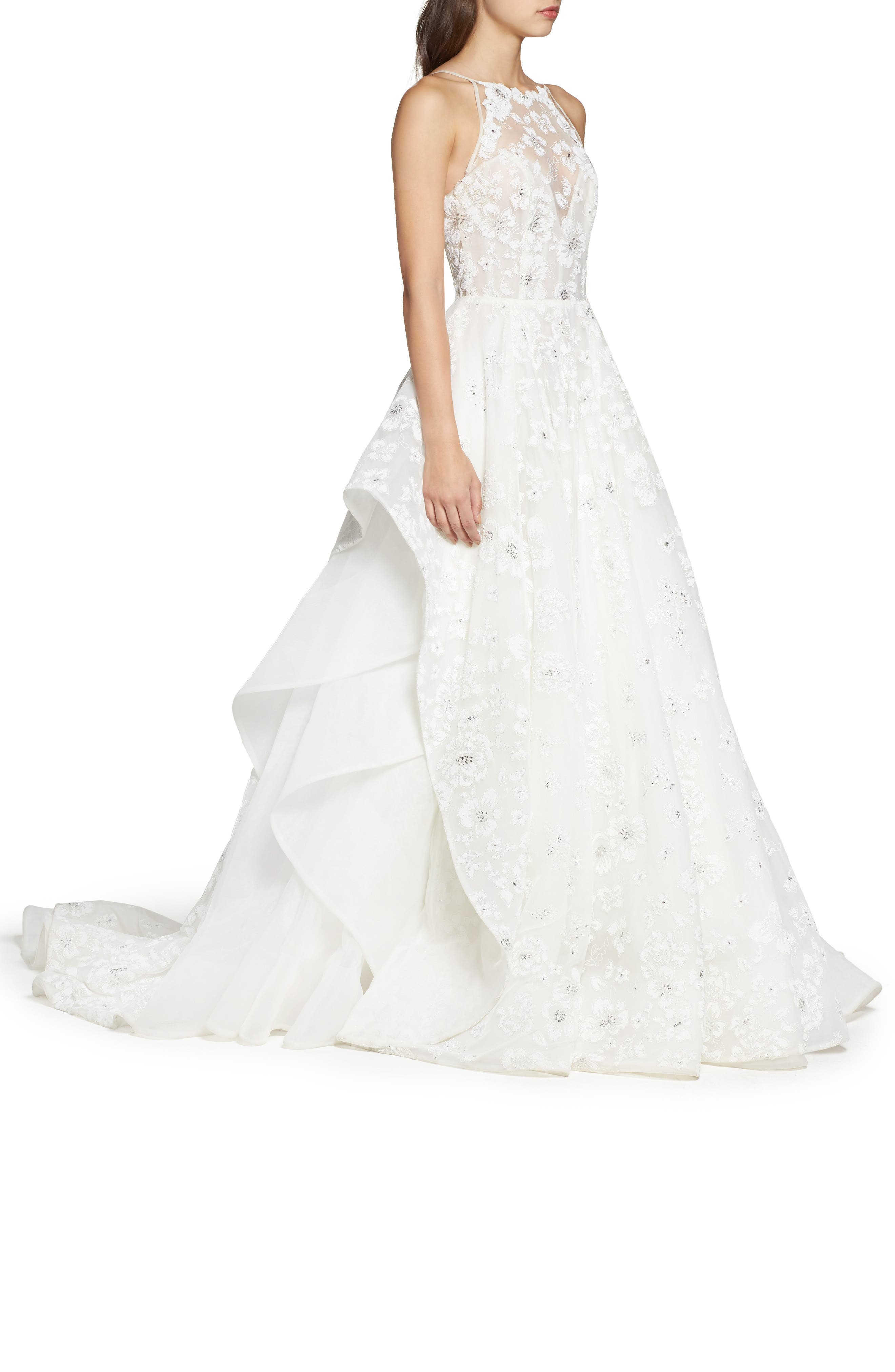 Alternate Image 3  - Hayley Paige Reagan Floral Embroidered Layered Ballgown