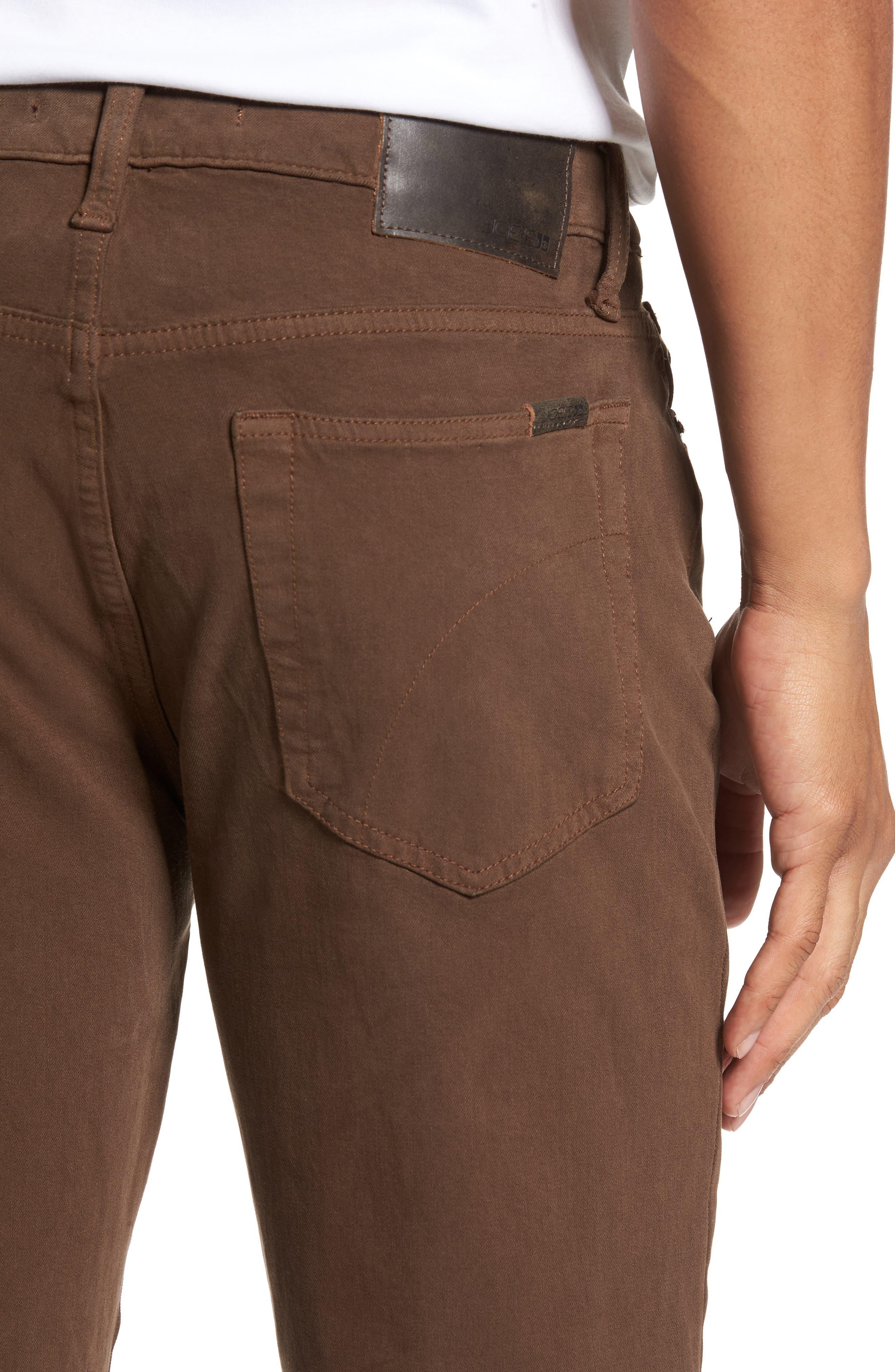 Alternate Image 4  - Joe's Brixton Slim Straight Fit Jeans (Dark Walnut)
