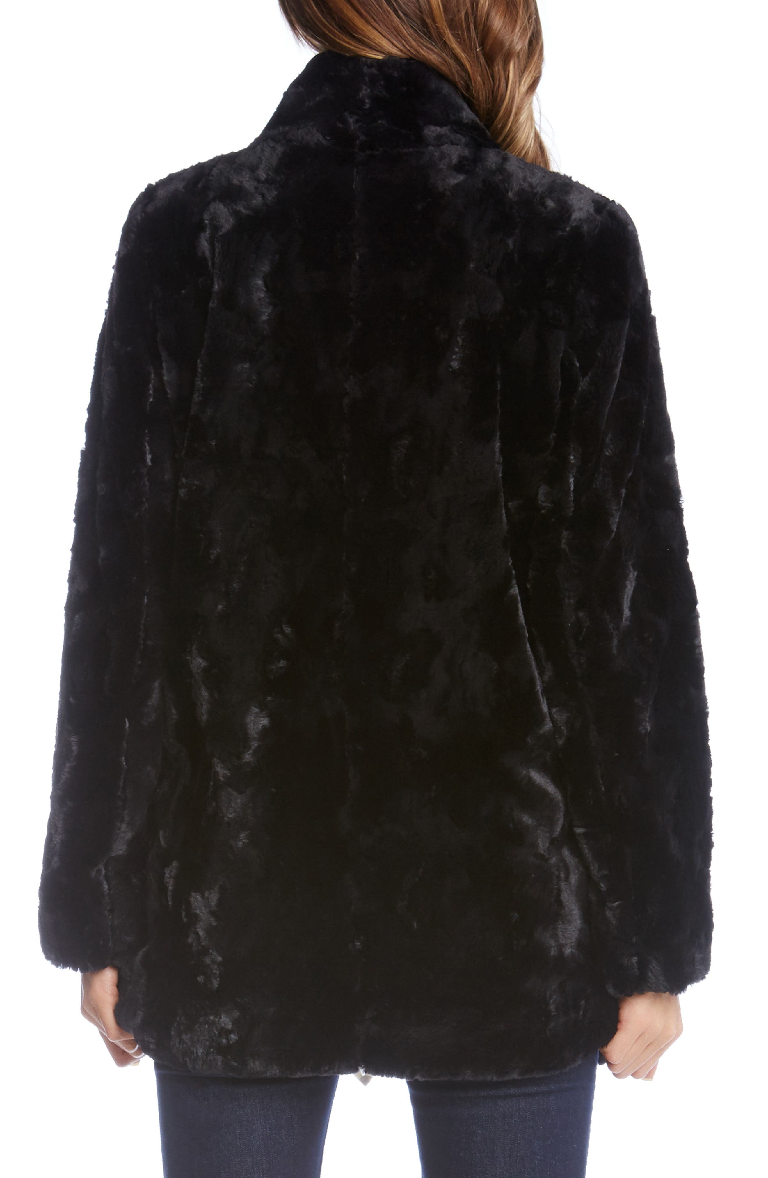 Alternate Image 2  - Karen Kane Faux Fur Toggle Jacket