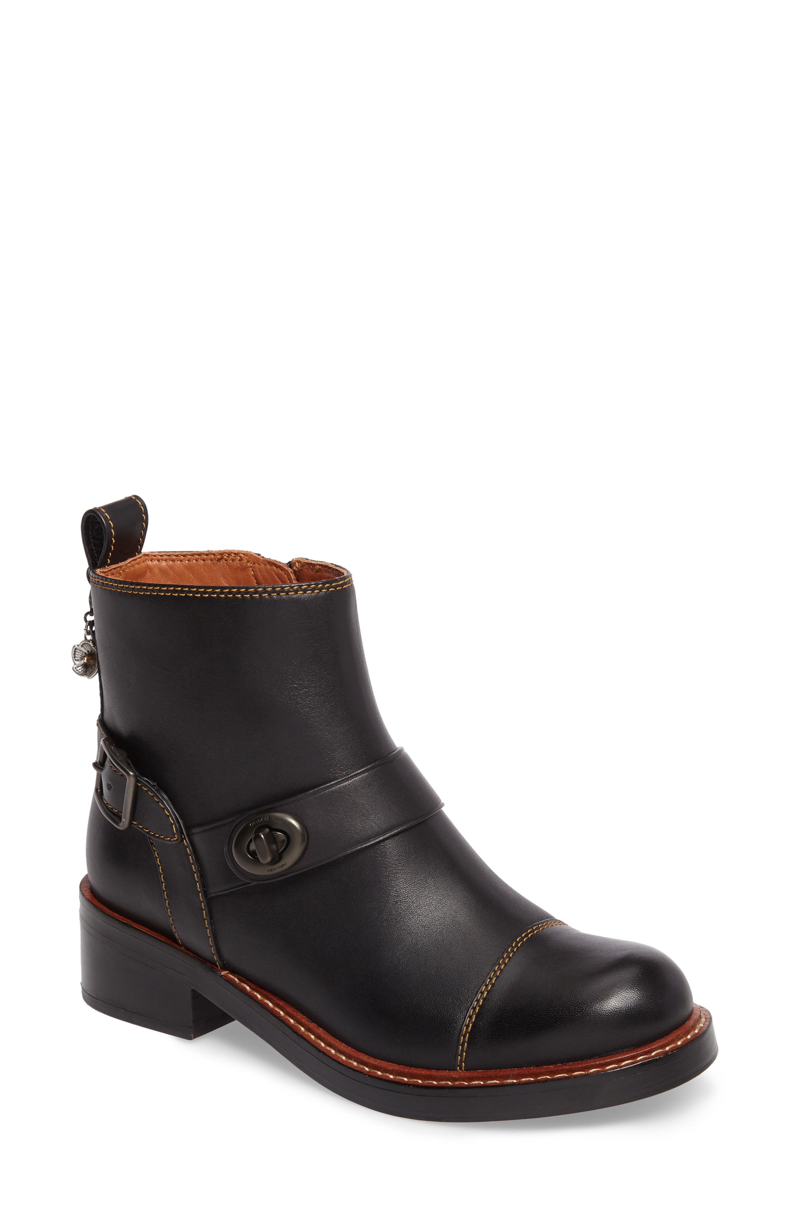 Alternate Image 1 Selected - COACH Moto Bootie (Women)
