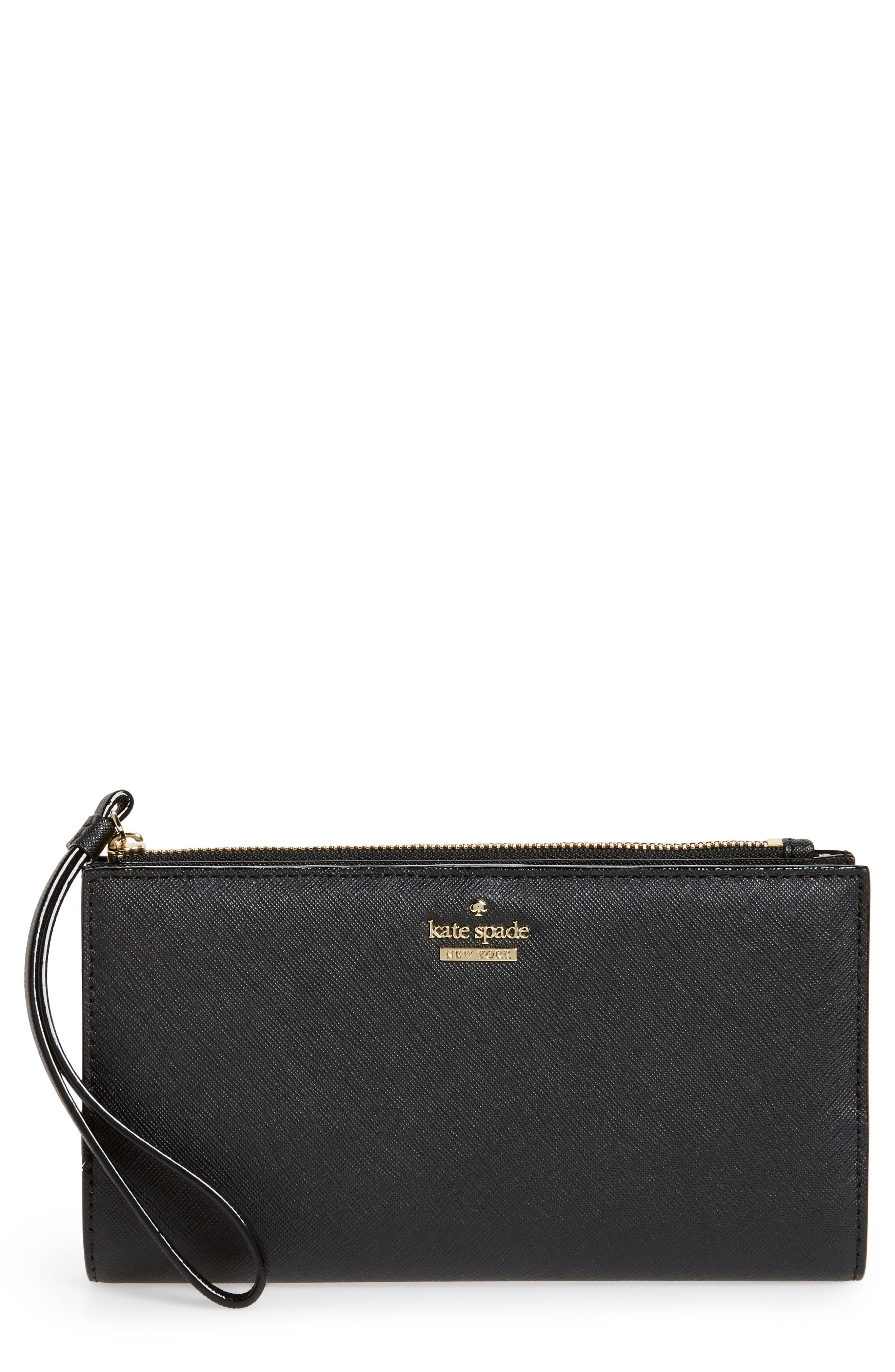 cameron street - eliza leather wallet,                         Main,                         color, Black