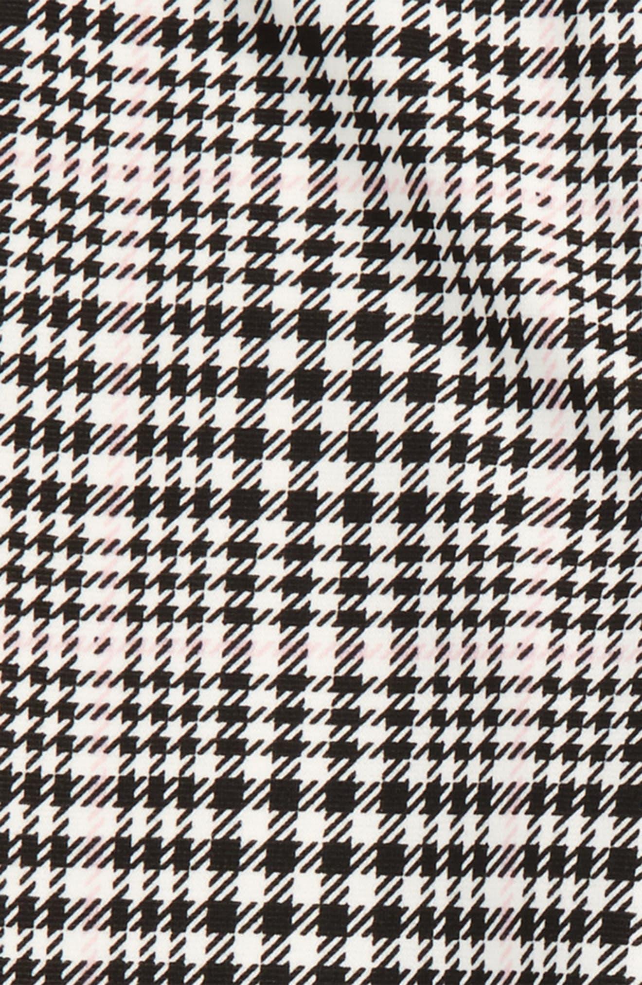 Herringbone Plaid Leggings,                             Alternate thumbnail 2, color,                             Black/ Pink