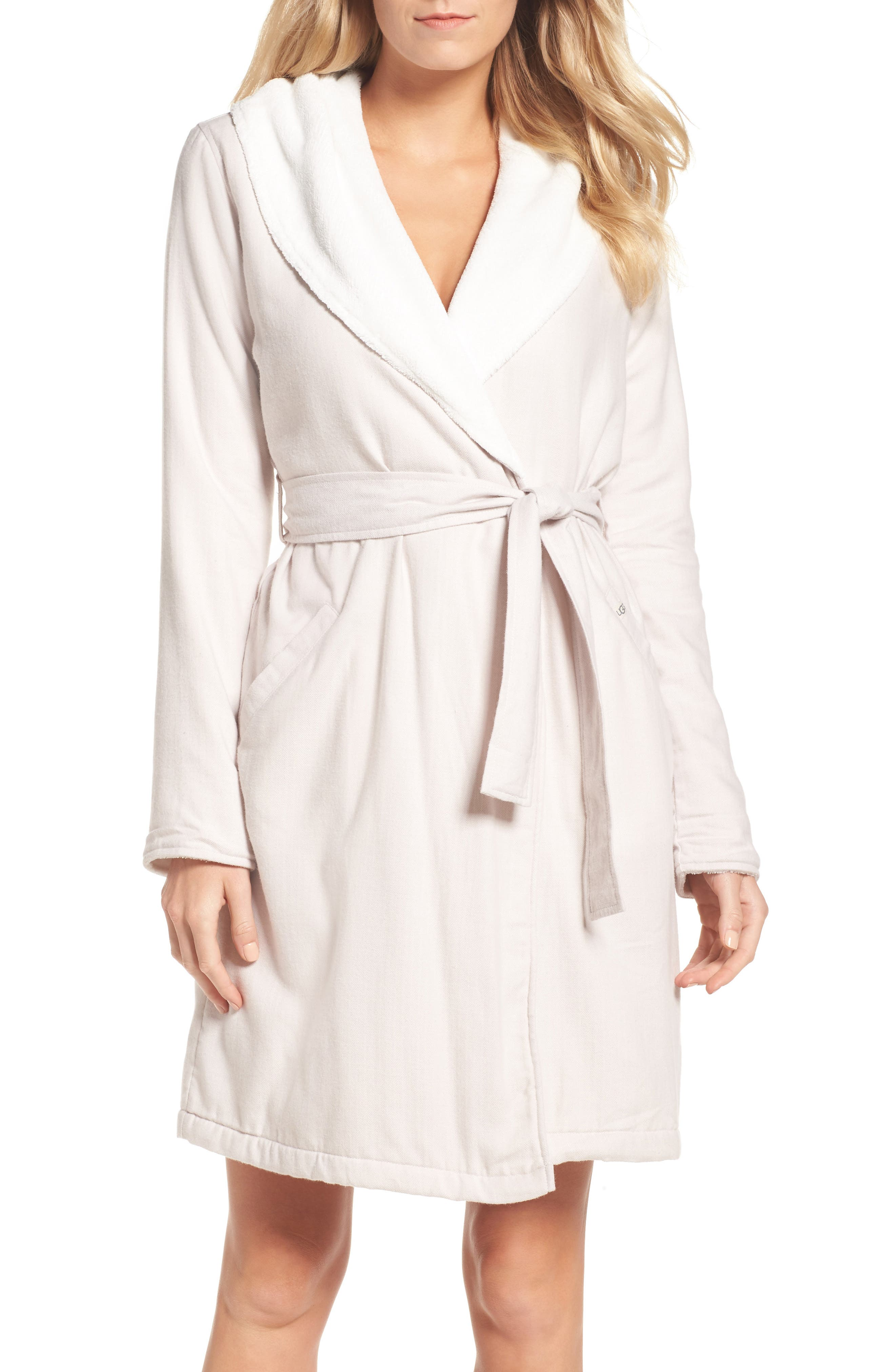 UGG® Anika Herringbone Fleece Robe