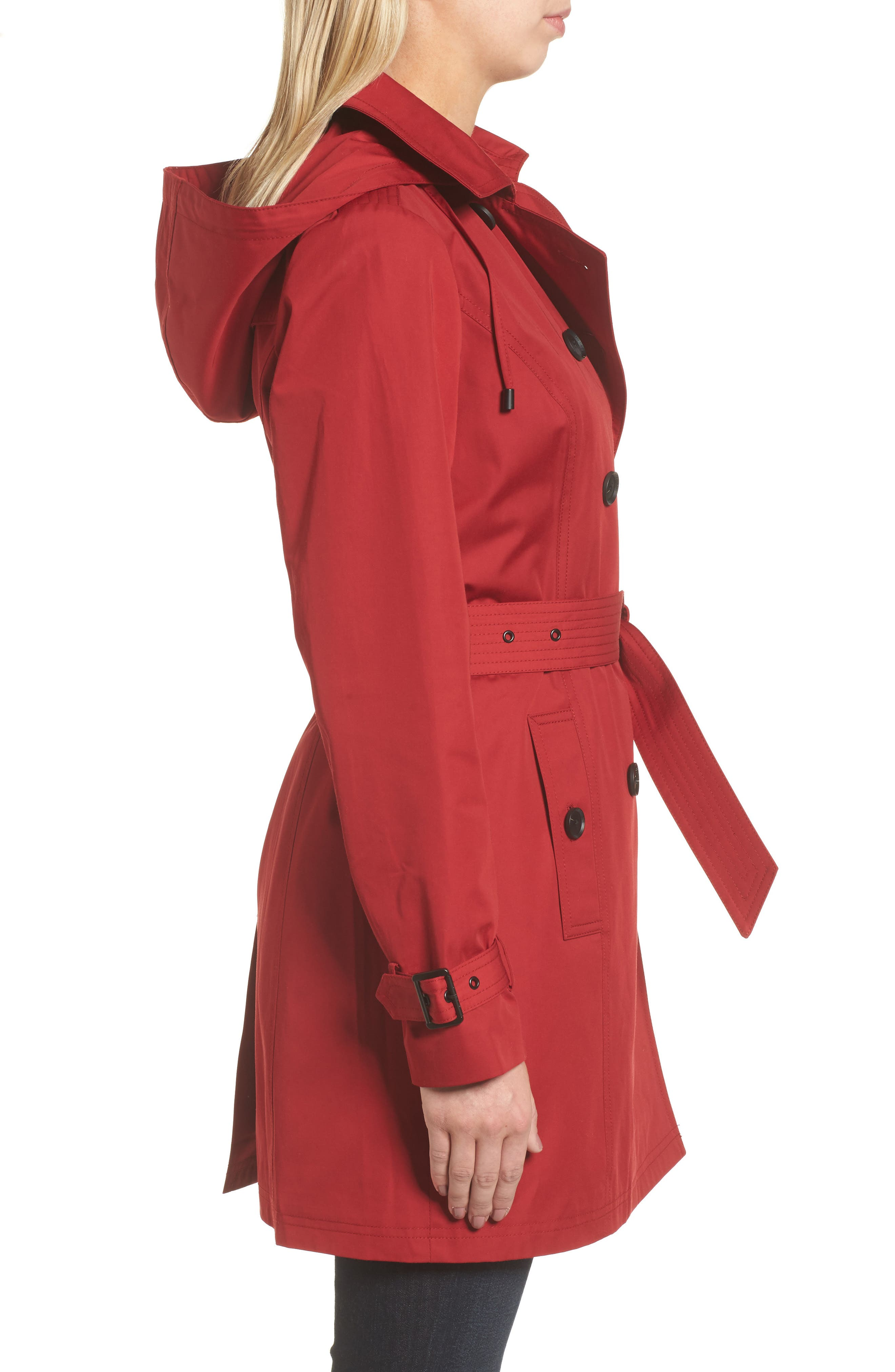 Alternate Image 3  - MICHAEL Michael Kors Belted Parka Jacket (Regular & Petite)