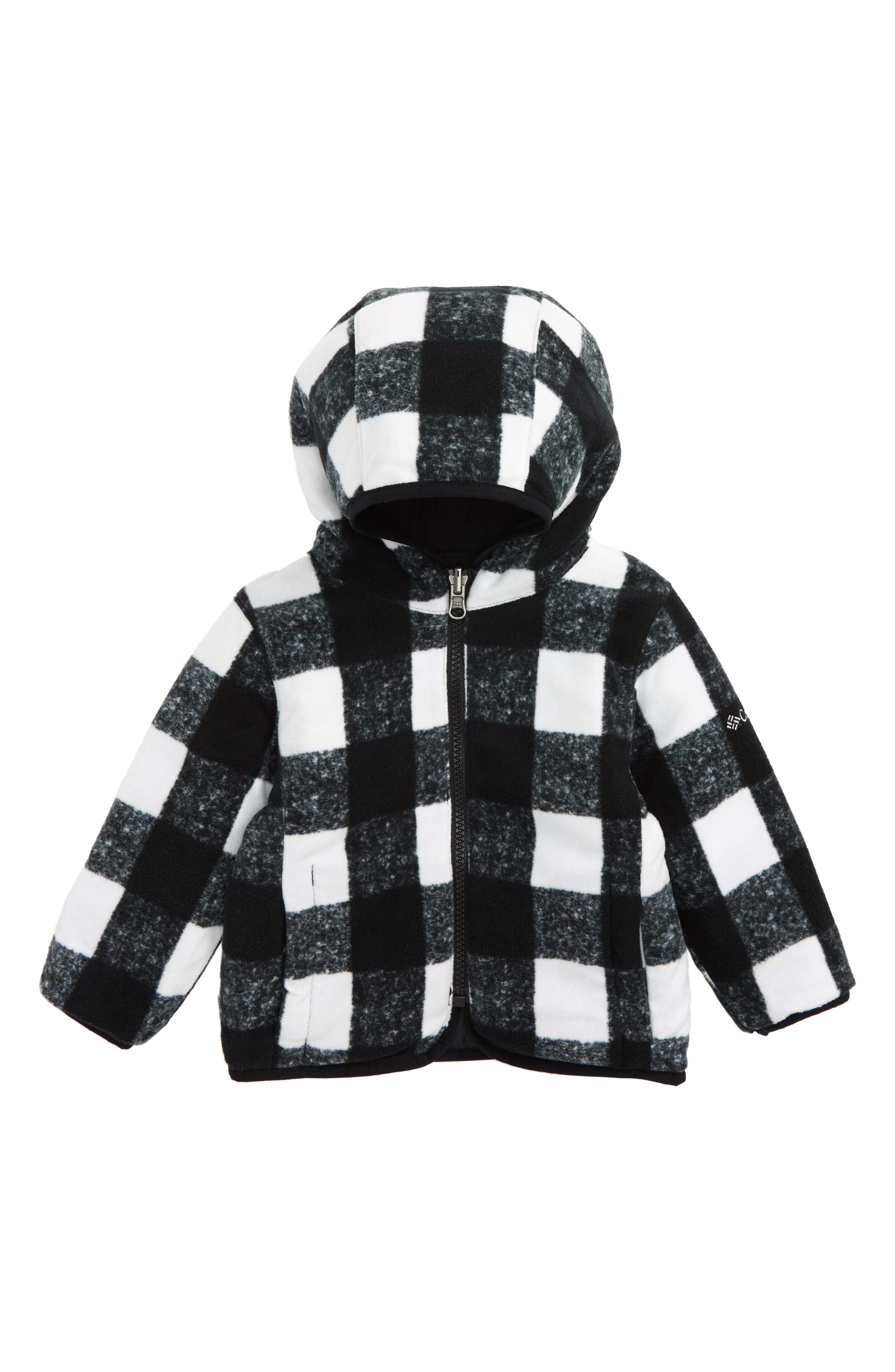 Double Trouble Omni-Shield Reversible Water-Resistant Hooded Jacket,                             Alternate thumbnail 2, color,                             Black Plaid