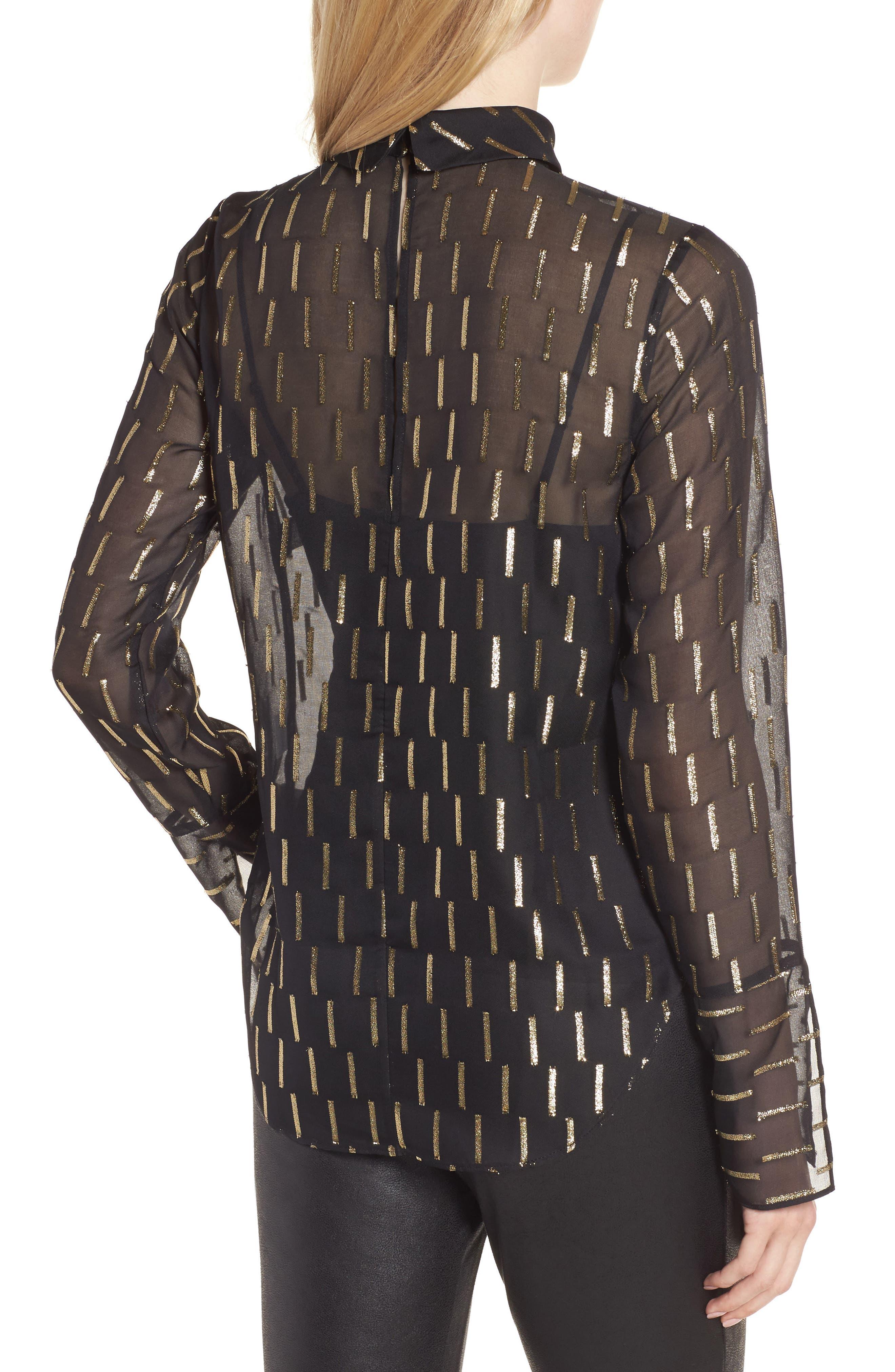 Alternate Image 2  - Trouvé Metallic Stripe Choker Top
