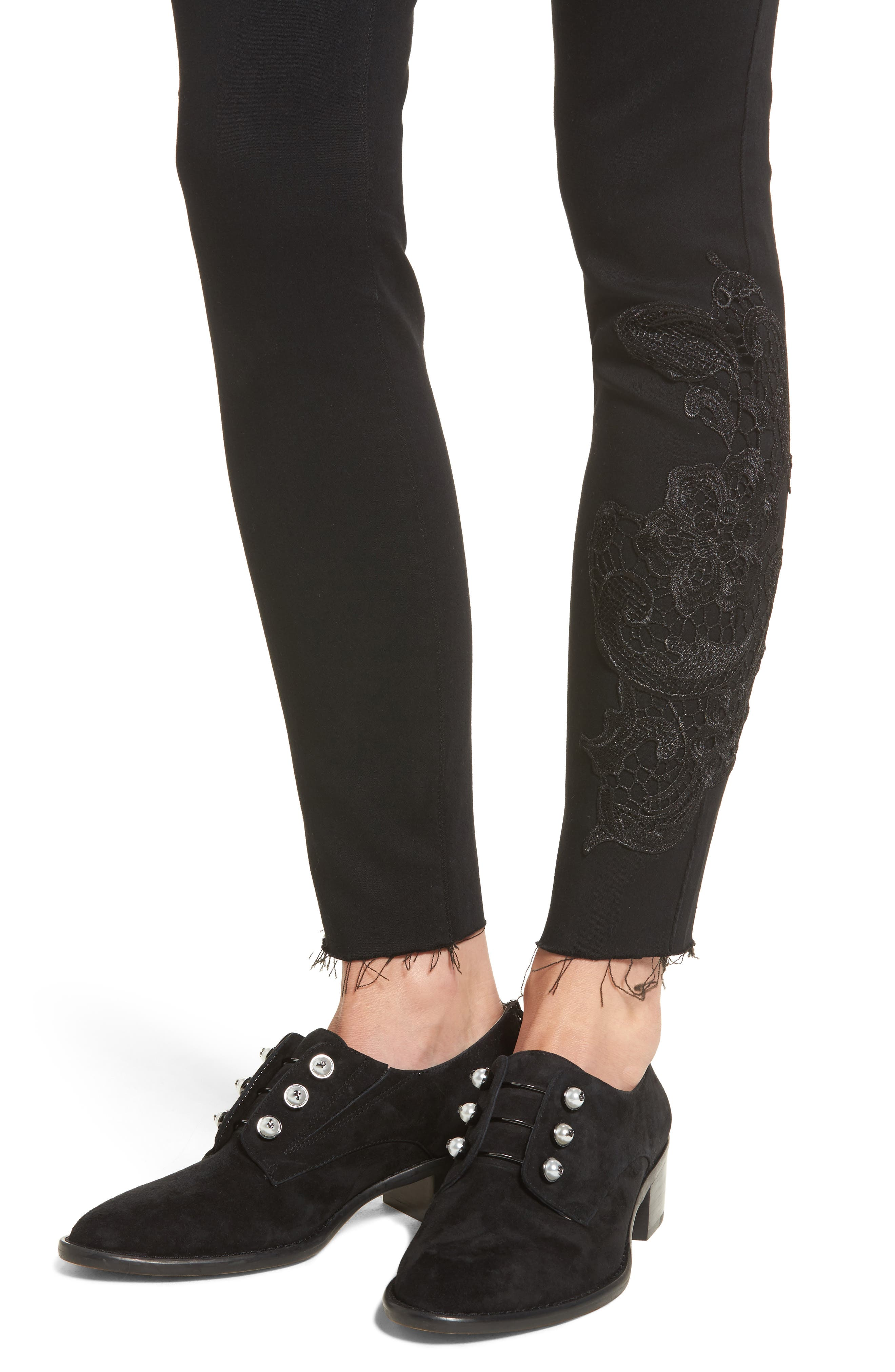 Alternate Image 4  - STS Blue Piper Lace Appliqué Skinny Ankle Jeans