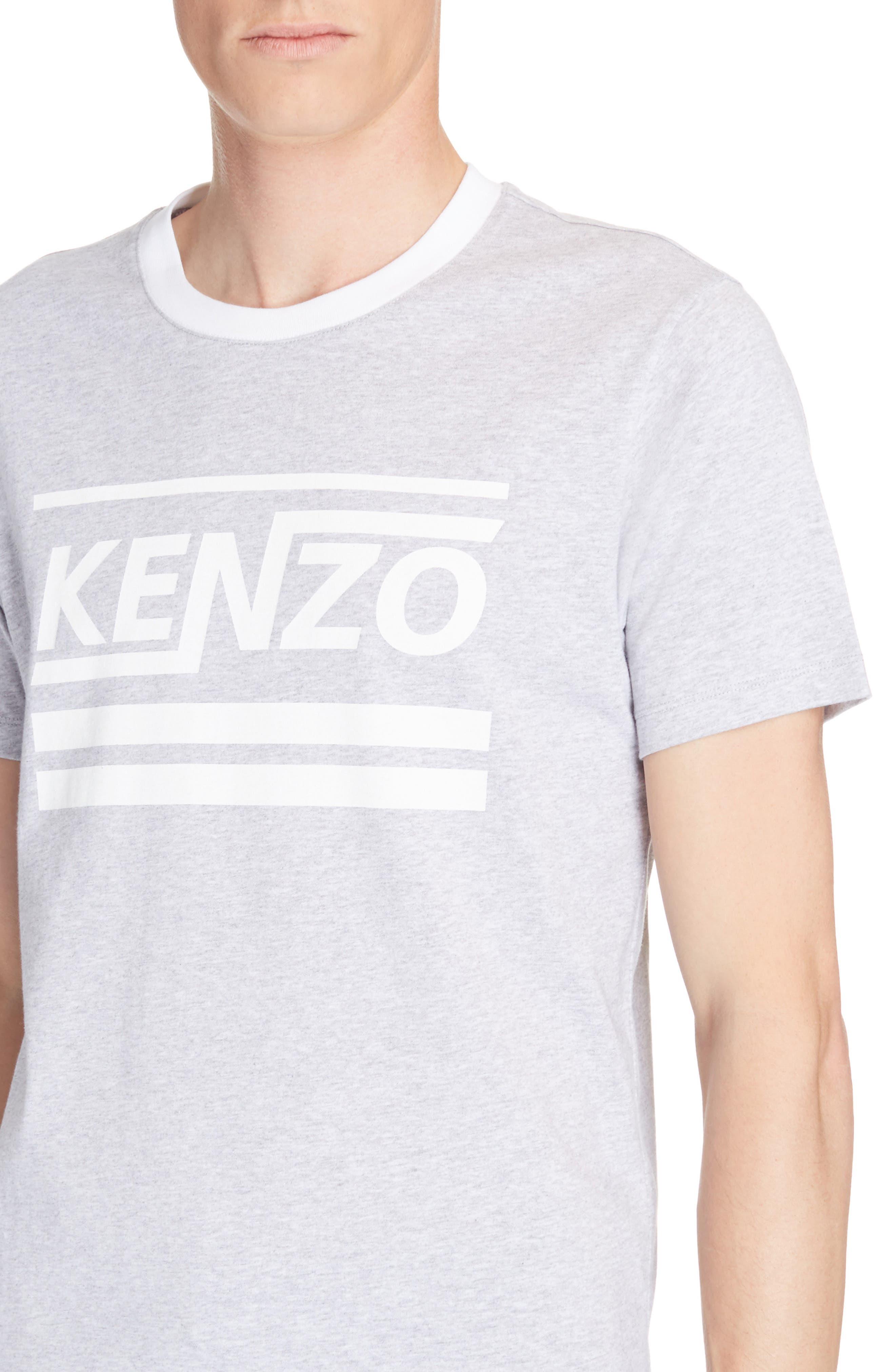 Logo Graphic T-Shirt,                             Alternate thumbnail 4, color,                             Pearl Grey