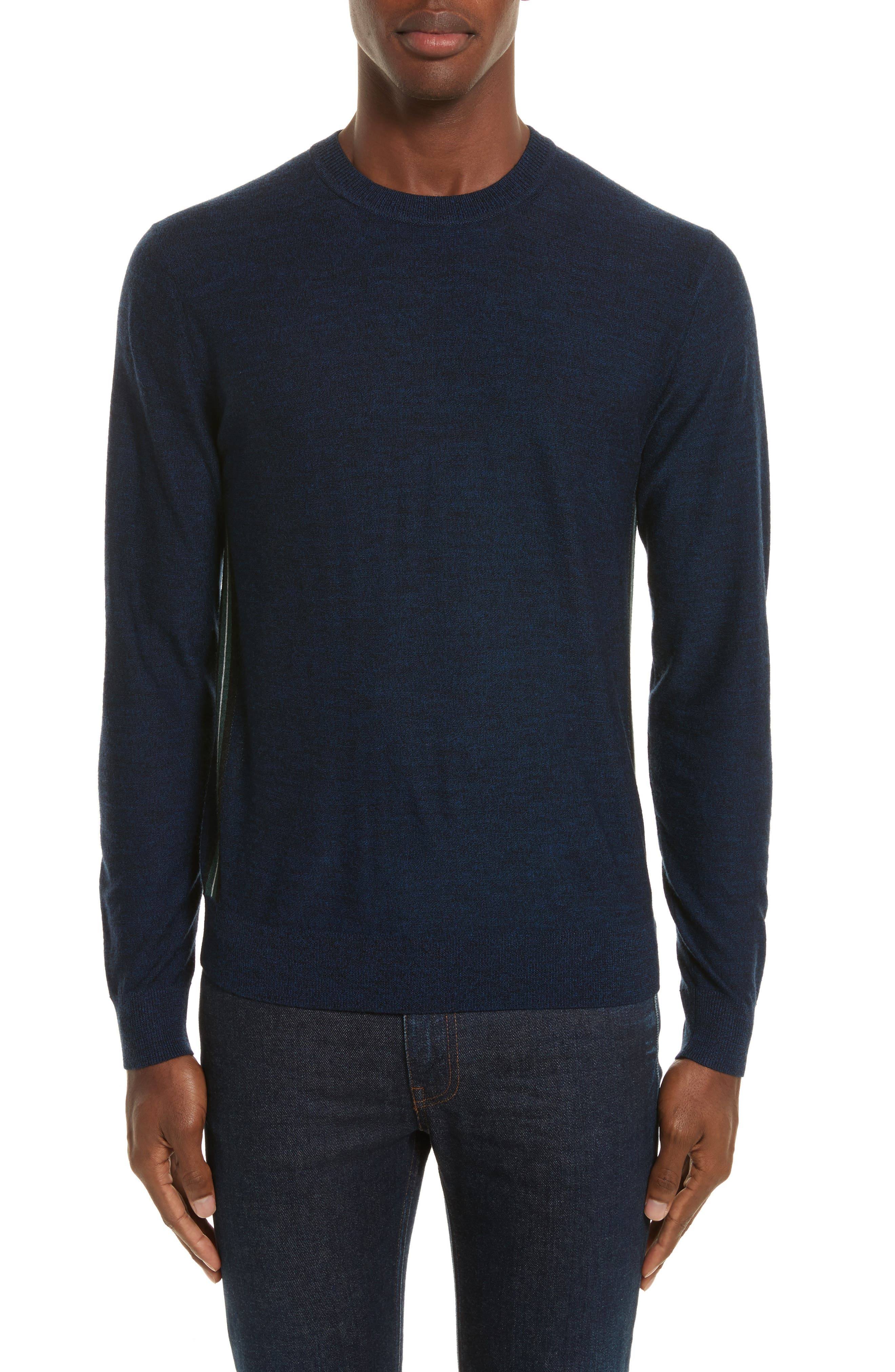 Main Image - PS Paul Smith Side Stripe Merino Wool Sweater