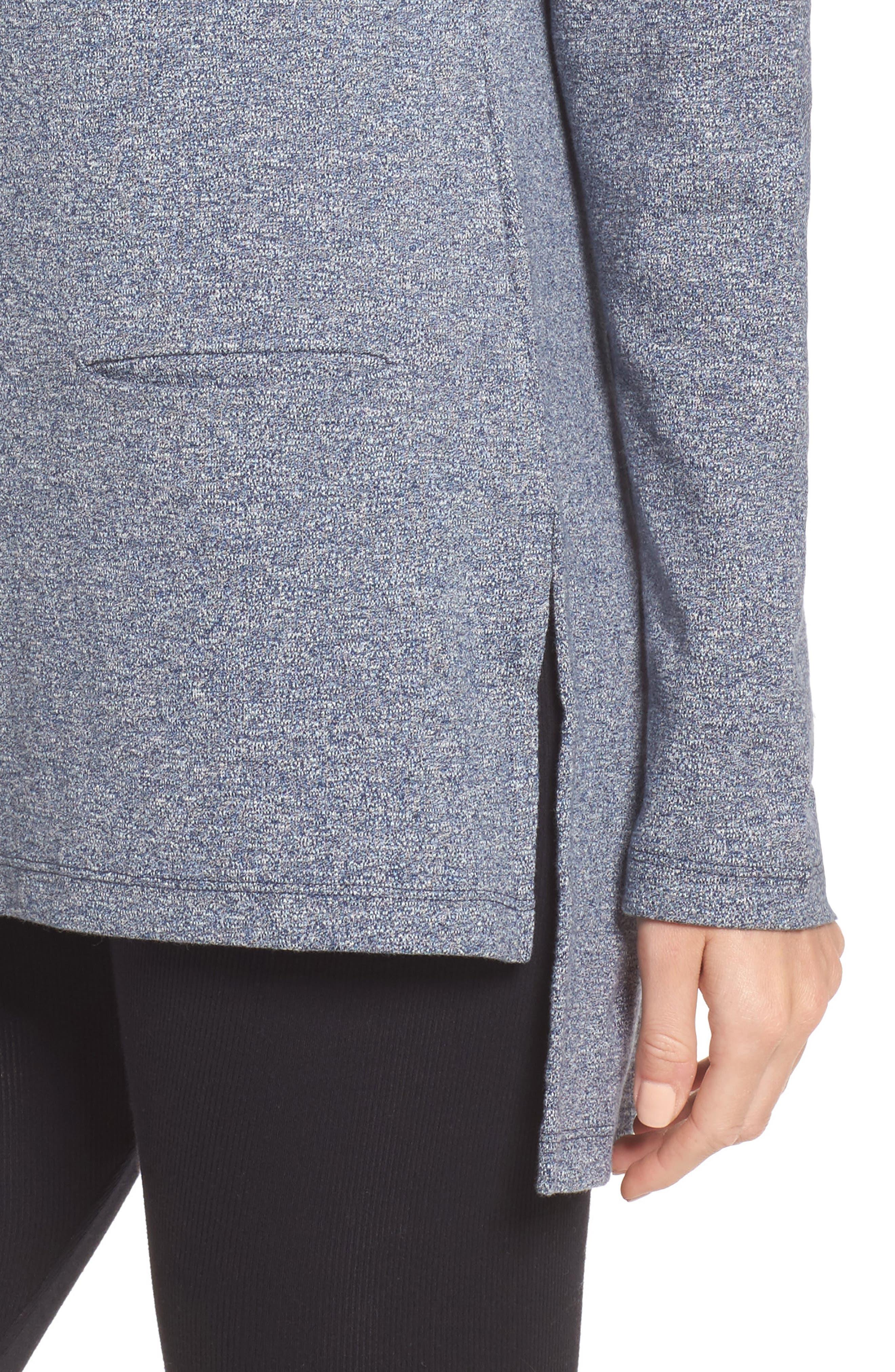 Alternate Image 5  - UGG® Luella High/Low Cotton Pullover