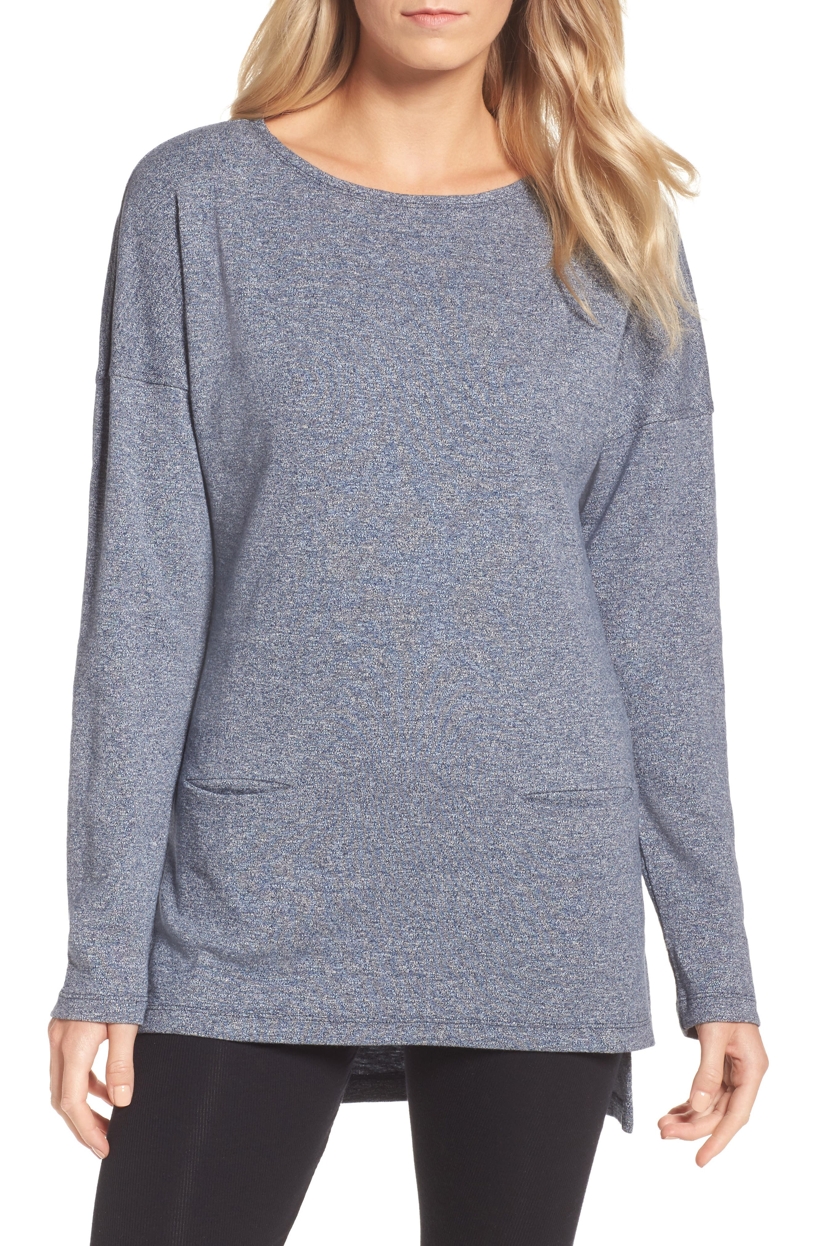 Alternate Image 1 Selected - UGG® Luella High/Low Cotton Pullover